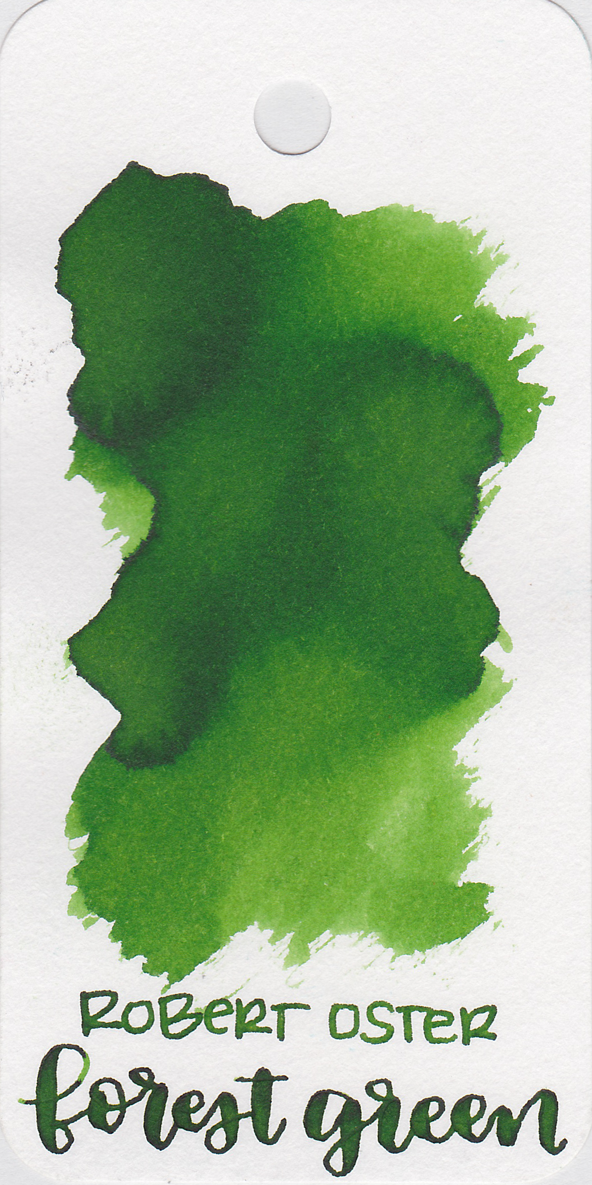 The color: - Forest Green is a medium green with shading.