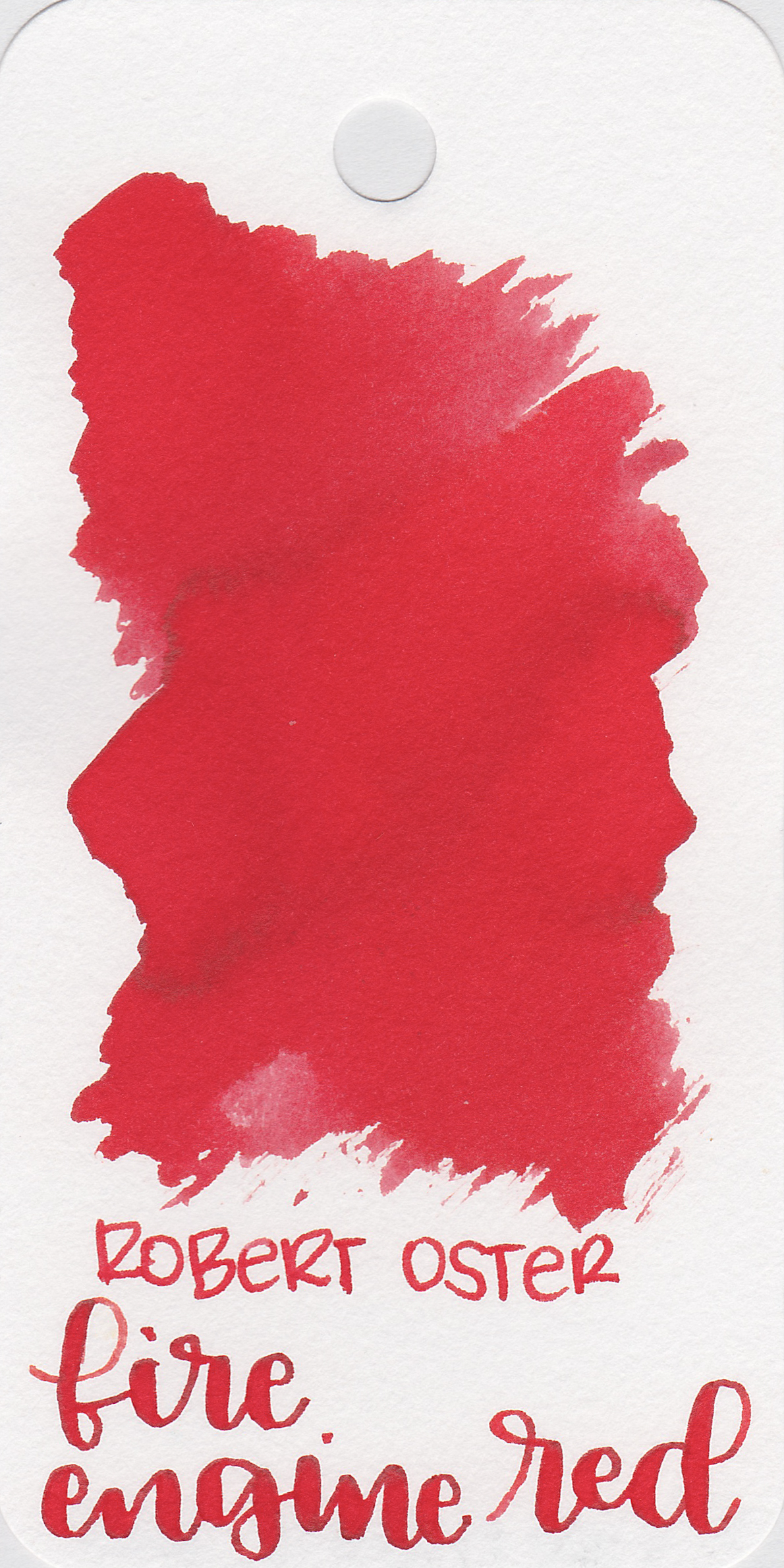The color: - Fire Engine Red is a bright red.