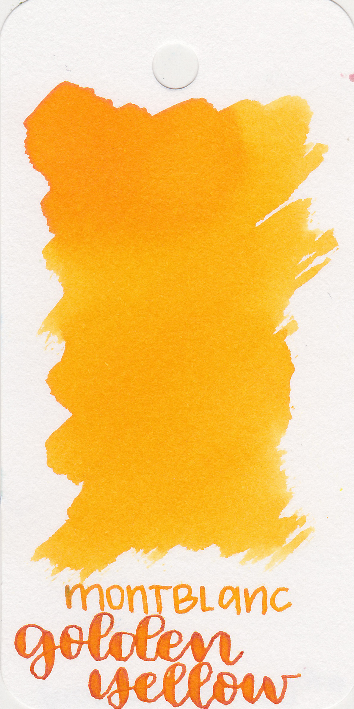 The color: - Golden Yellow is a medium bright yellow.