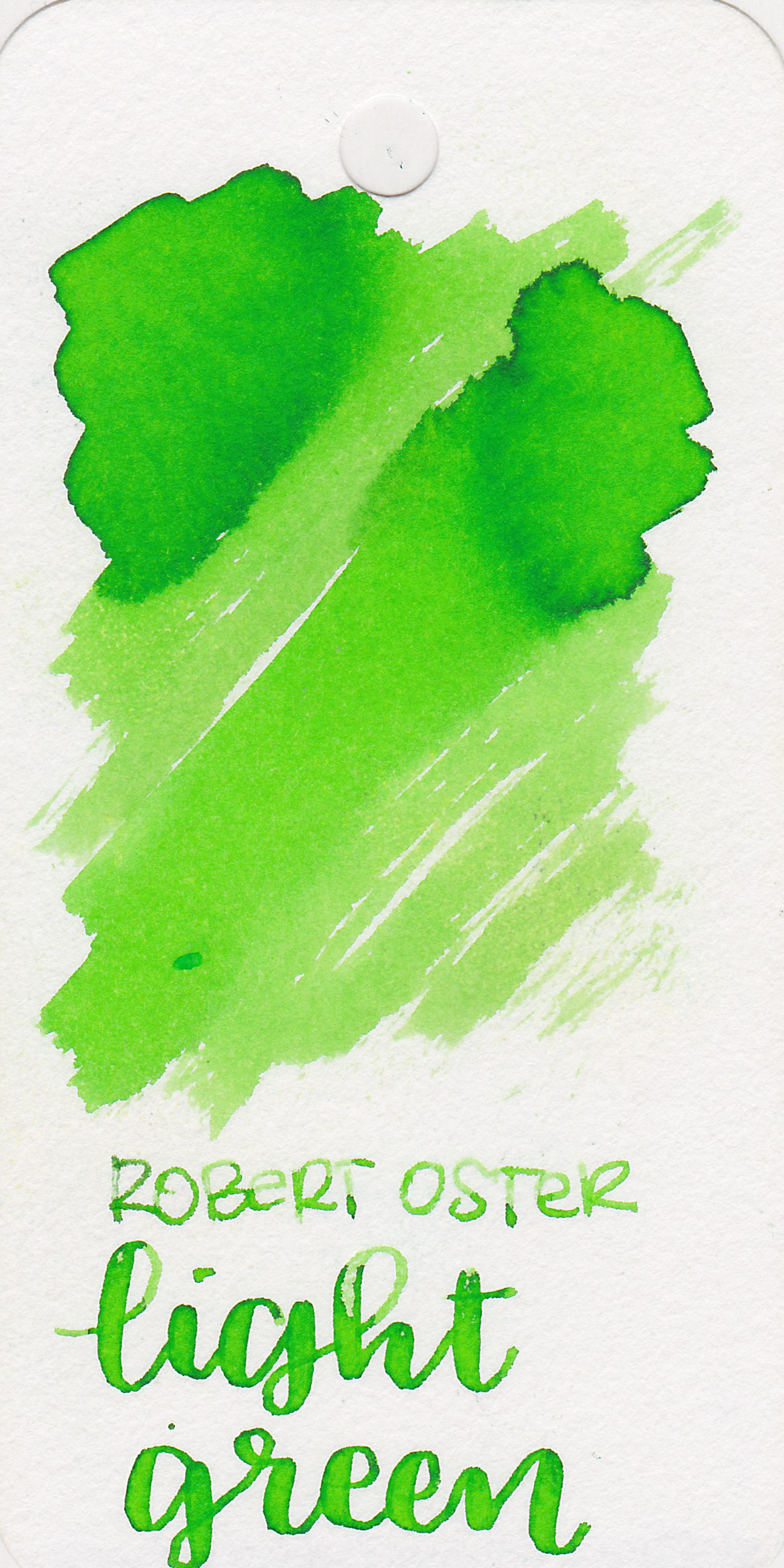 Robert Oster Light Green - Dries in 15 seconds and has some lovely medium shading. I don't think Robert Oster green inks get enough attention. His greens are just as good as his blues.