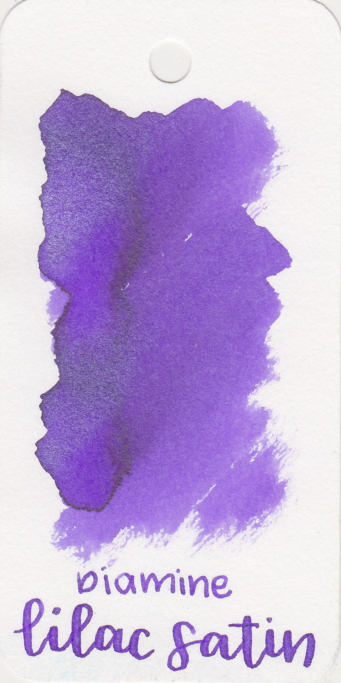 The color: - Lilac Satin is a beautiful light purple. When wet it looks more red-violet, but dries more of a blue-violet. It's a great spring color.