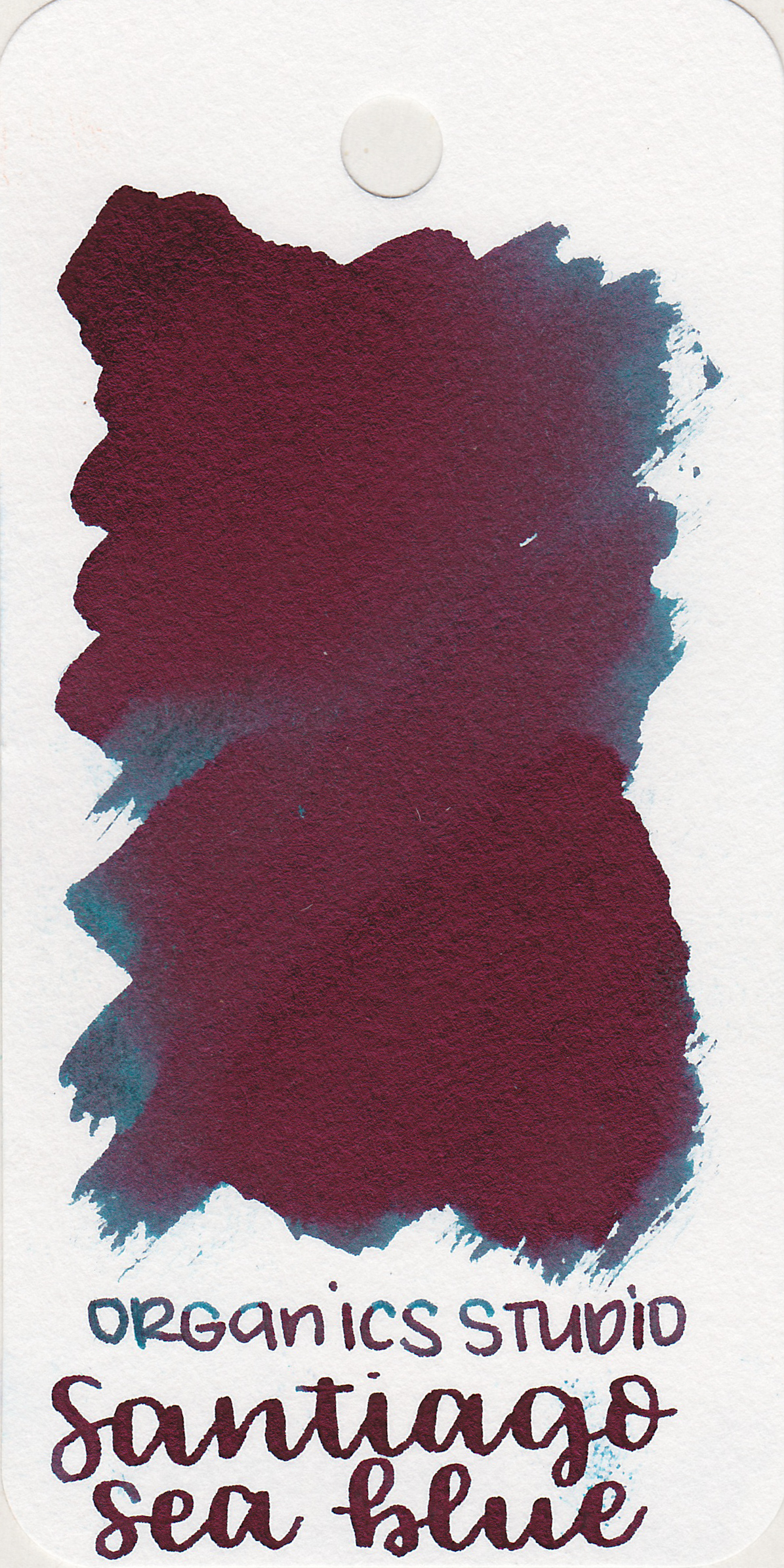 The color: - Santiago Sea Blue is a dark teal with pink sheen, or more accurately, it's a pink sheen with a dark teal undertone.