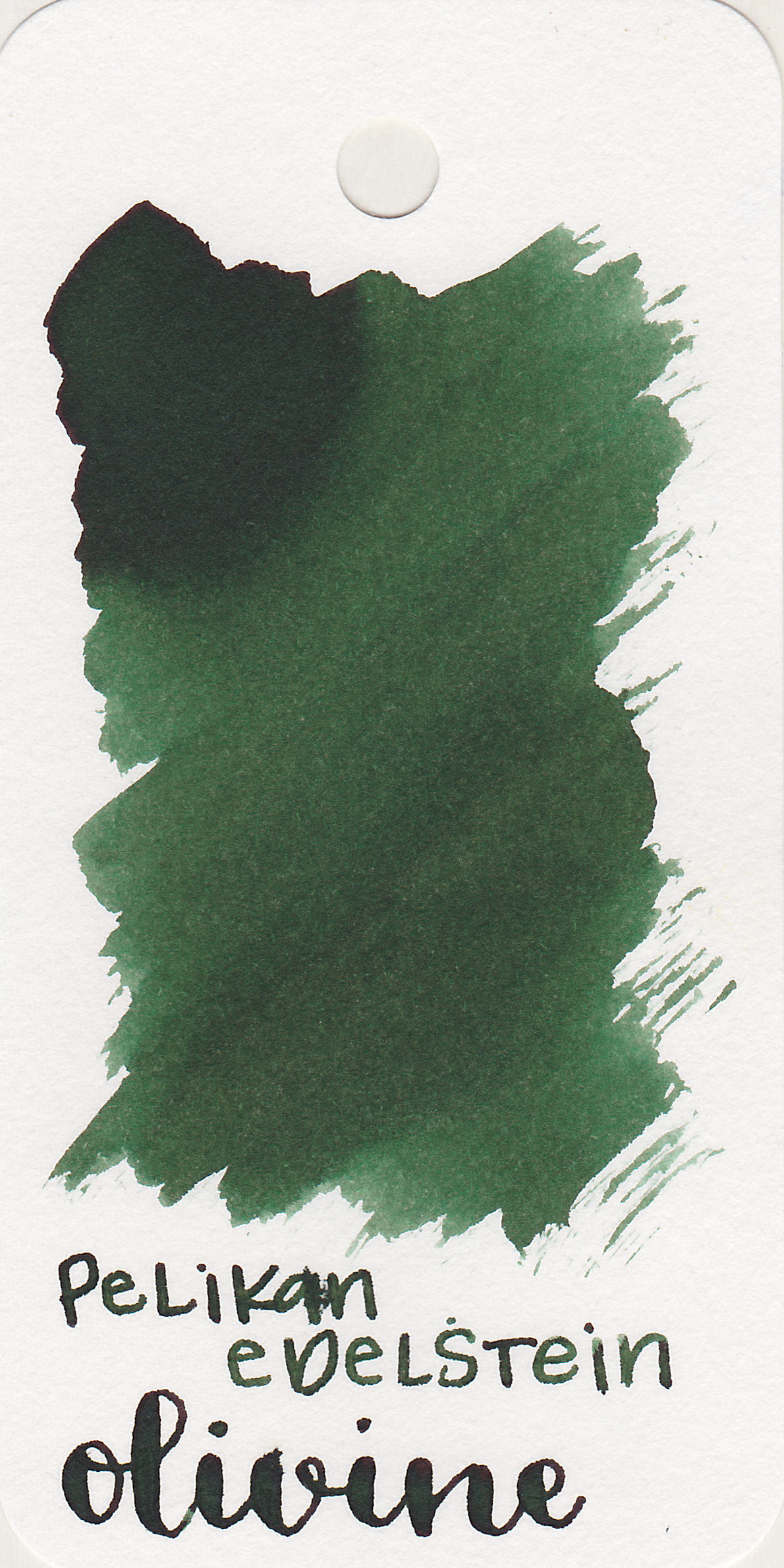 The color: - Olivine is a dark green. It's not quite an olive green, but not quite a forest green either.