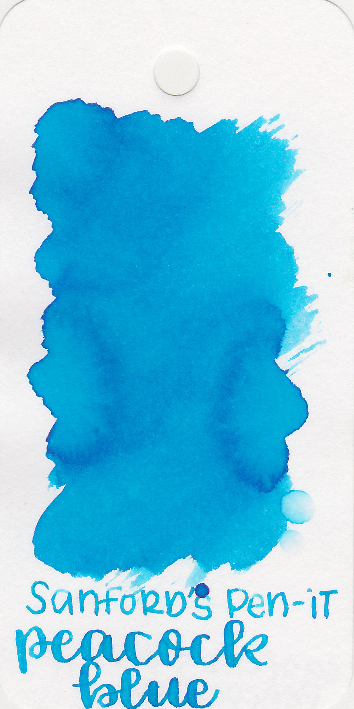 The color: - Peacock Blue is a bright medium blue. It immediately reminds me of Lamy Pacific Blue.