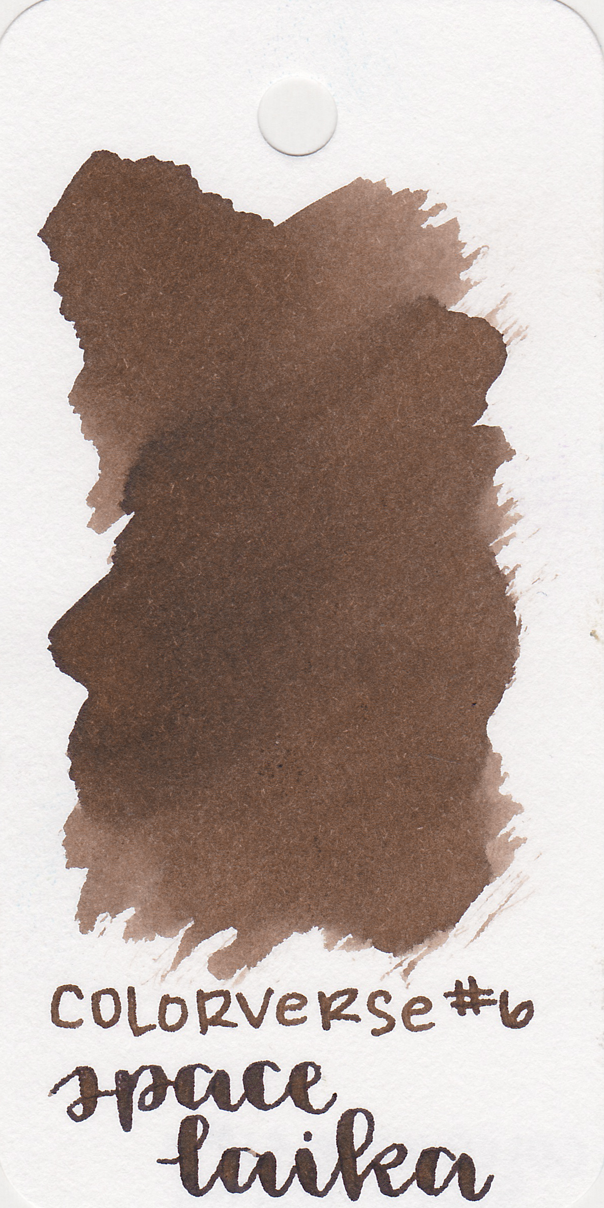 The color: - Space Laika is a nice cool chocolate brown.