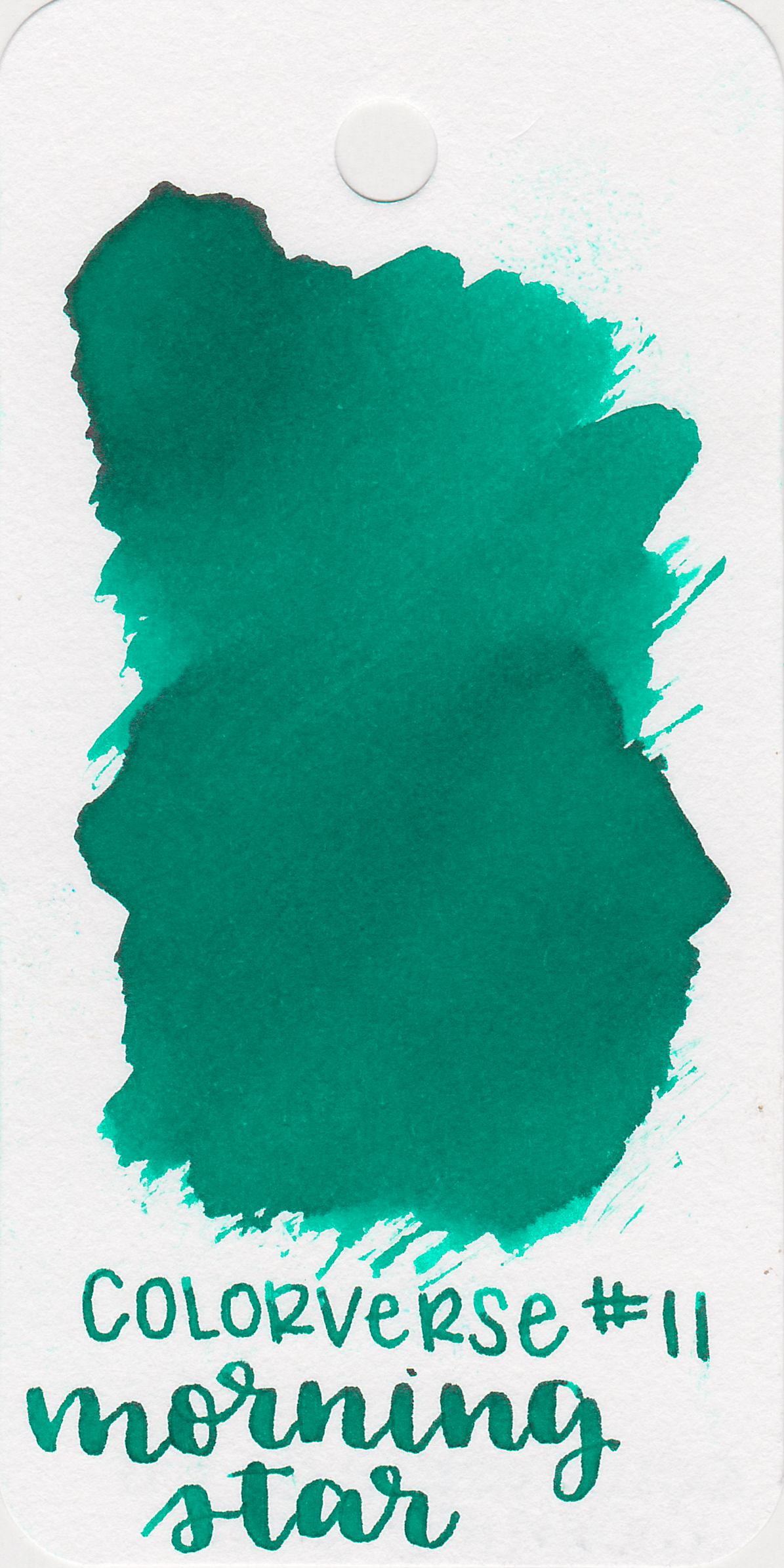 The color: - Morning Star is a beautiful medium teal. It's on the greener side of teal. It looks much greener on the Col-o-ring than it does on other papers.