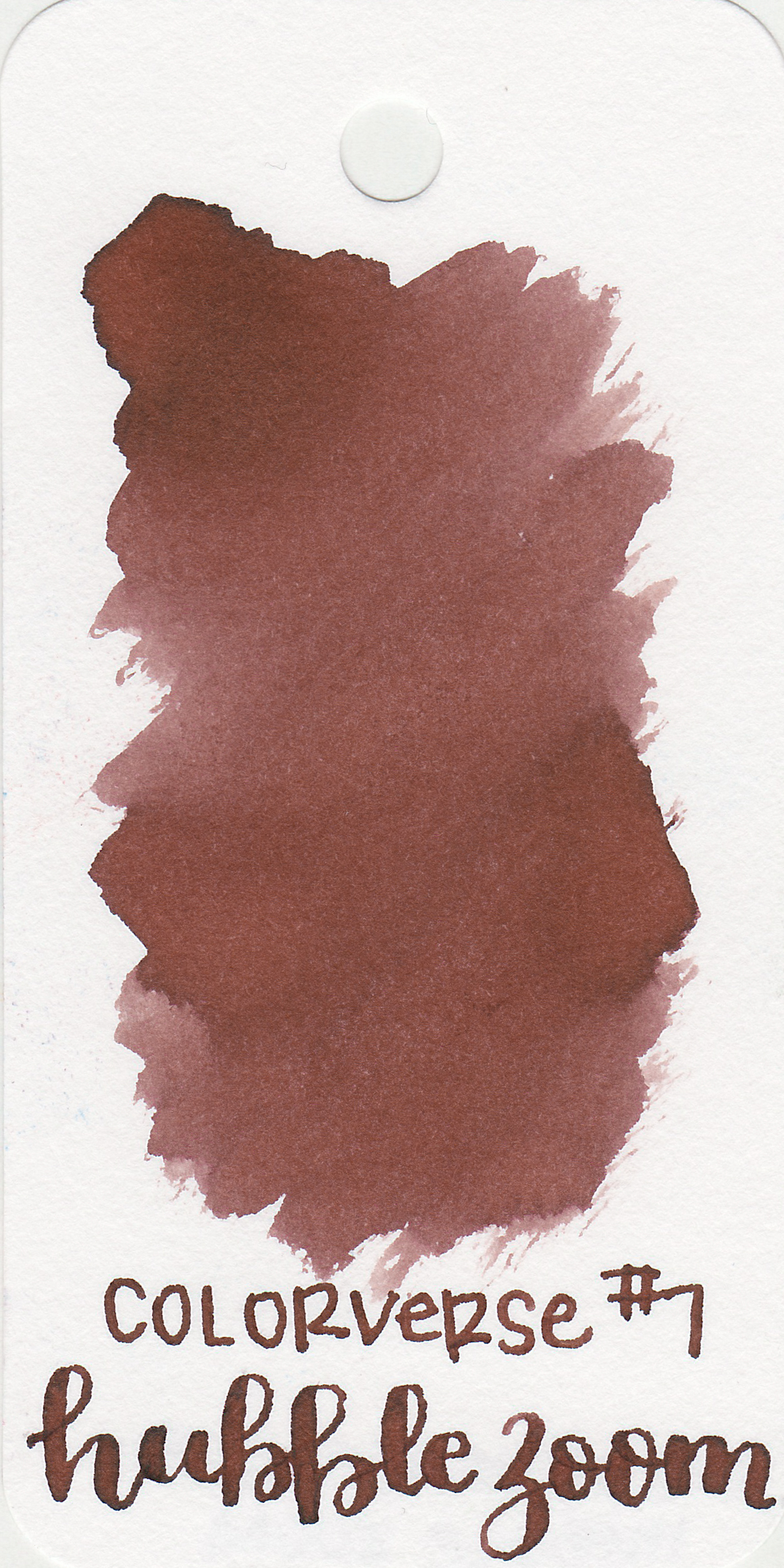 The color: - Hubble Zoom is a medium warm brown. It's not quite a red-brown, but has more red than your average brown.