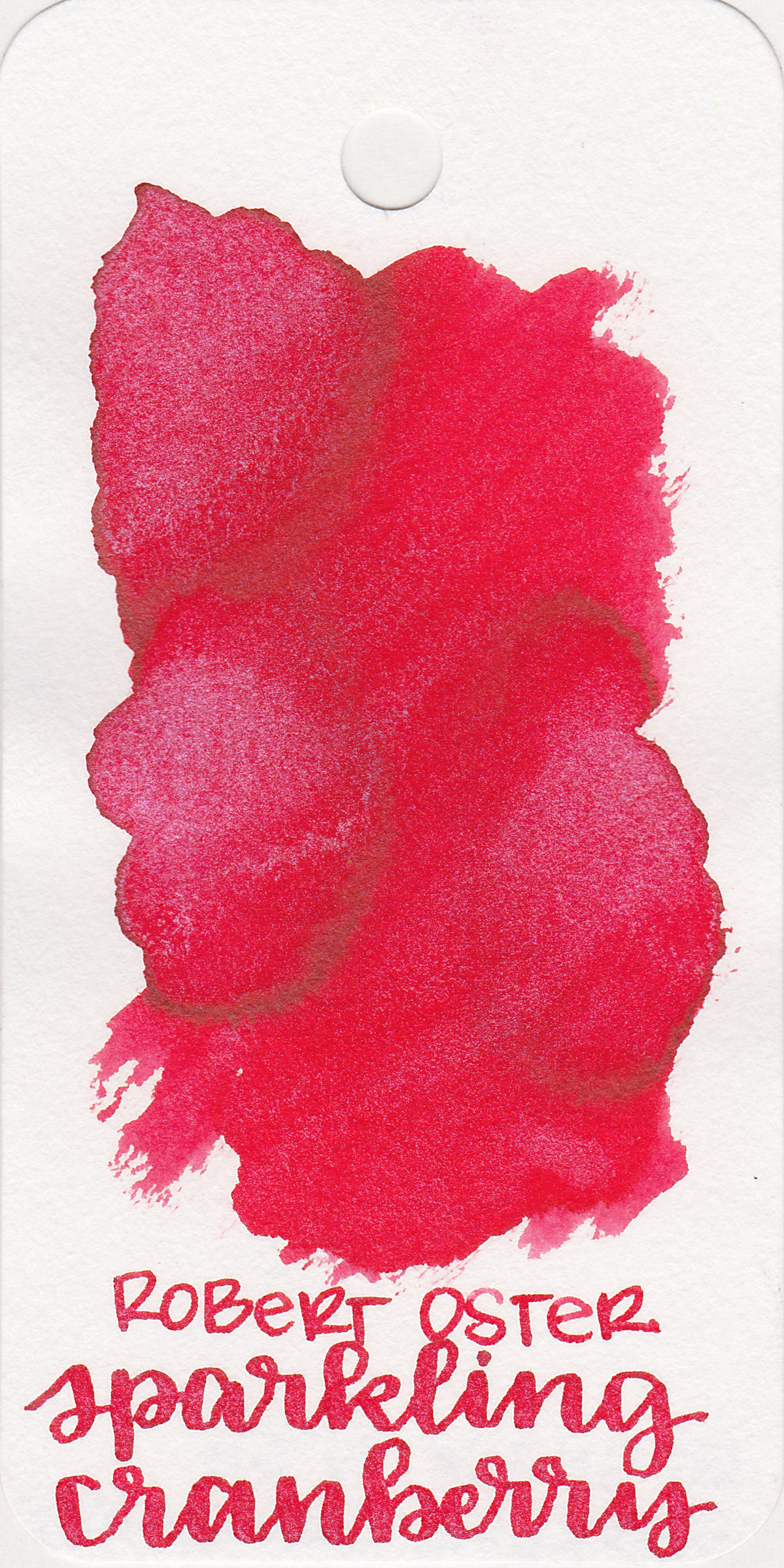 The color: - Sparkling Cranberry is a bright cherry red with plenty of silver shimmer. This ink would be great for Christmas cards.