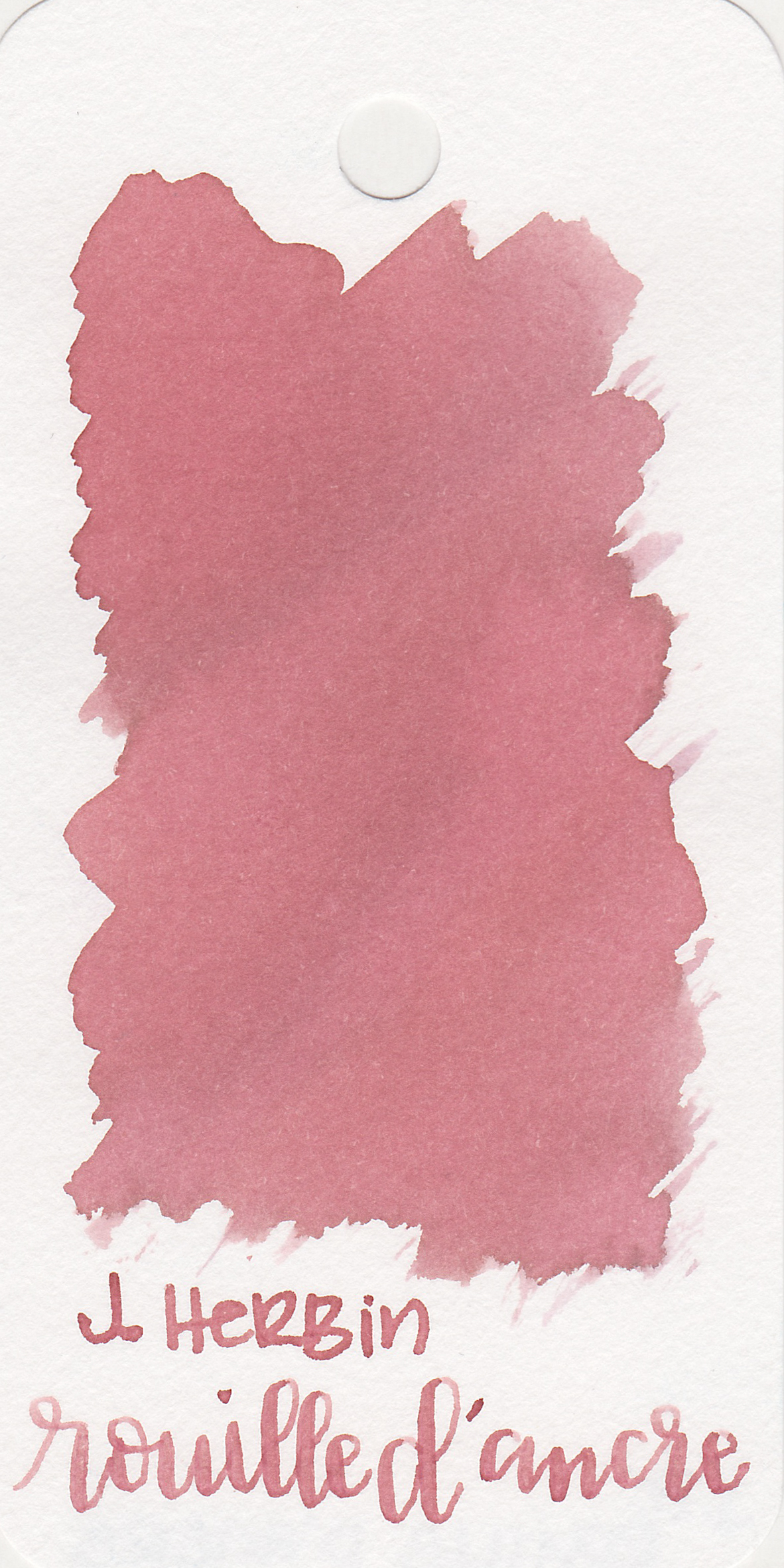 The color: - Rouille D'Ancre is a light, peachy pink. It looks more peach when wet, and more pink when dry. It's a nice light, spring pink.