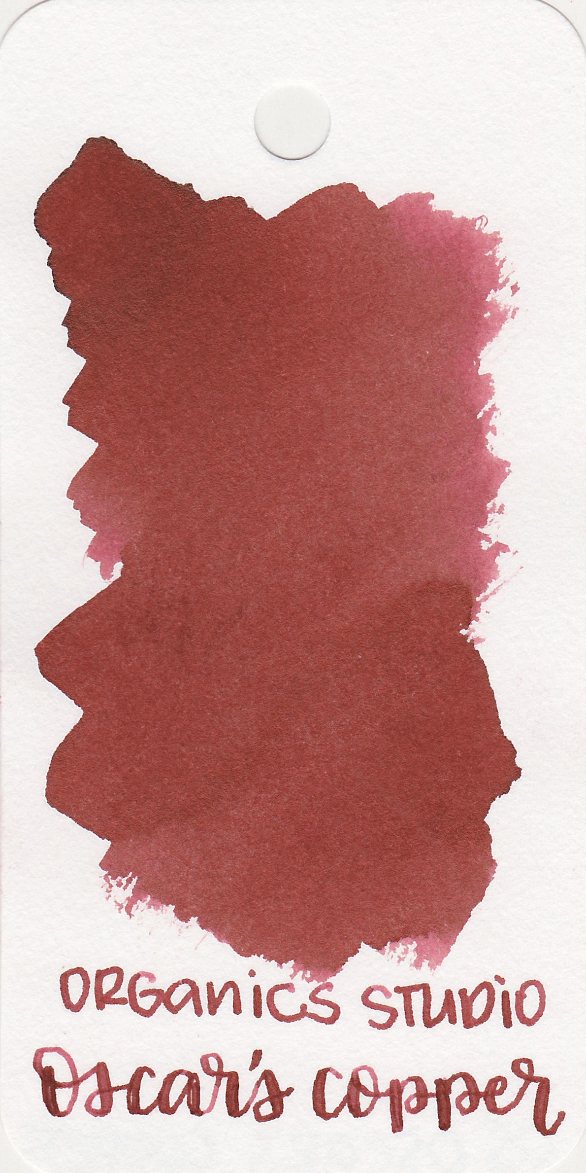 The color: - Oscar's Copper is a medium red brown.
