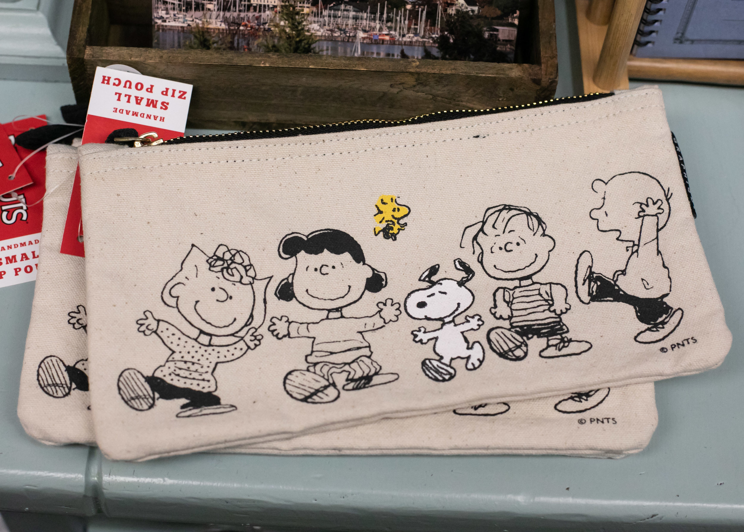 I fell in love with this snoopy zip pouch, and wish I had bought it, because it's adorable and I have a weakness for pen pouches.