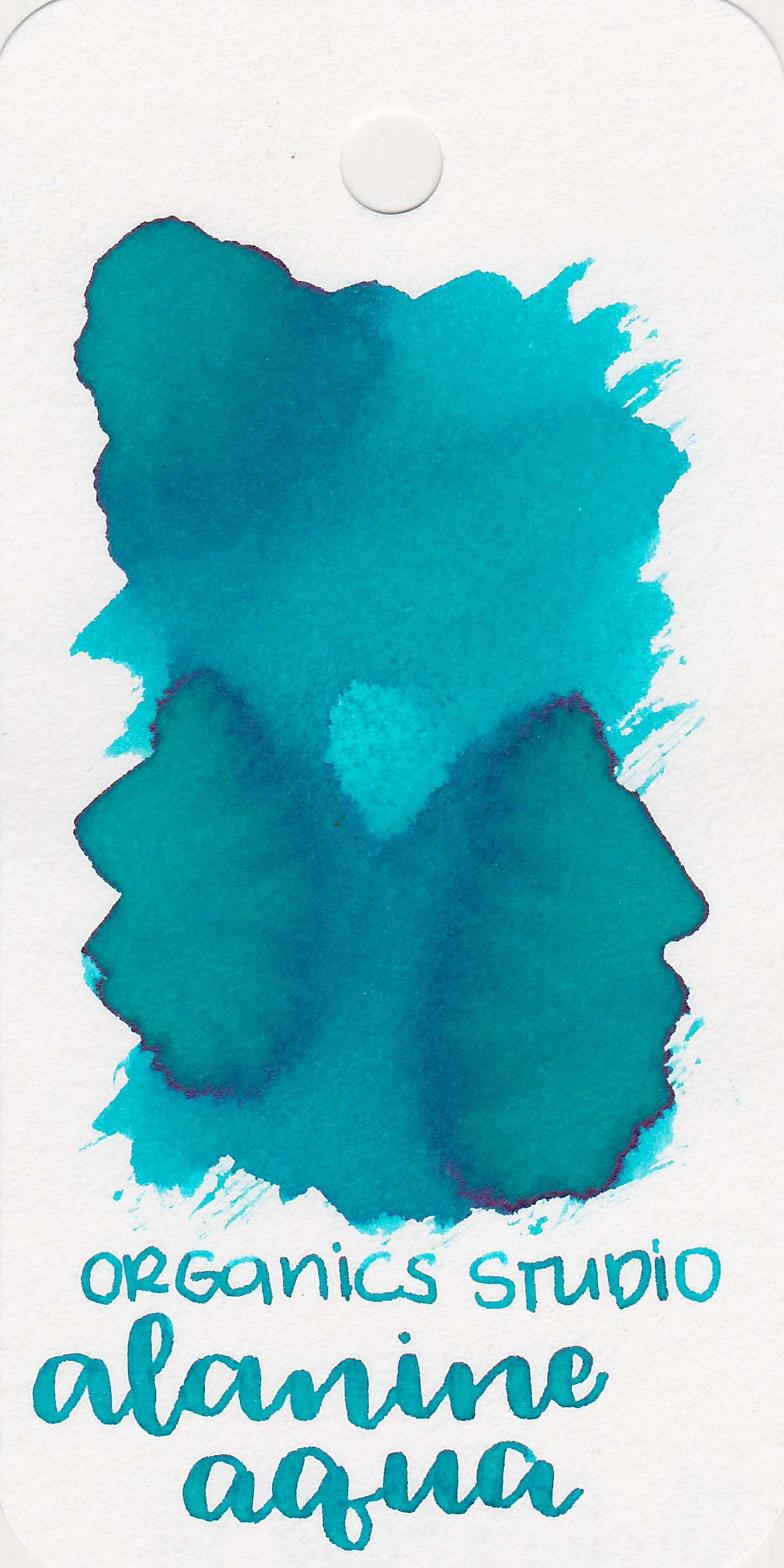 The color: - Alanine Aqua is a turquoise blue, not quite teal, but not quite just blue either. This swab only showed a tiny bit of silver shimmer.