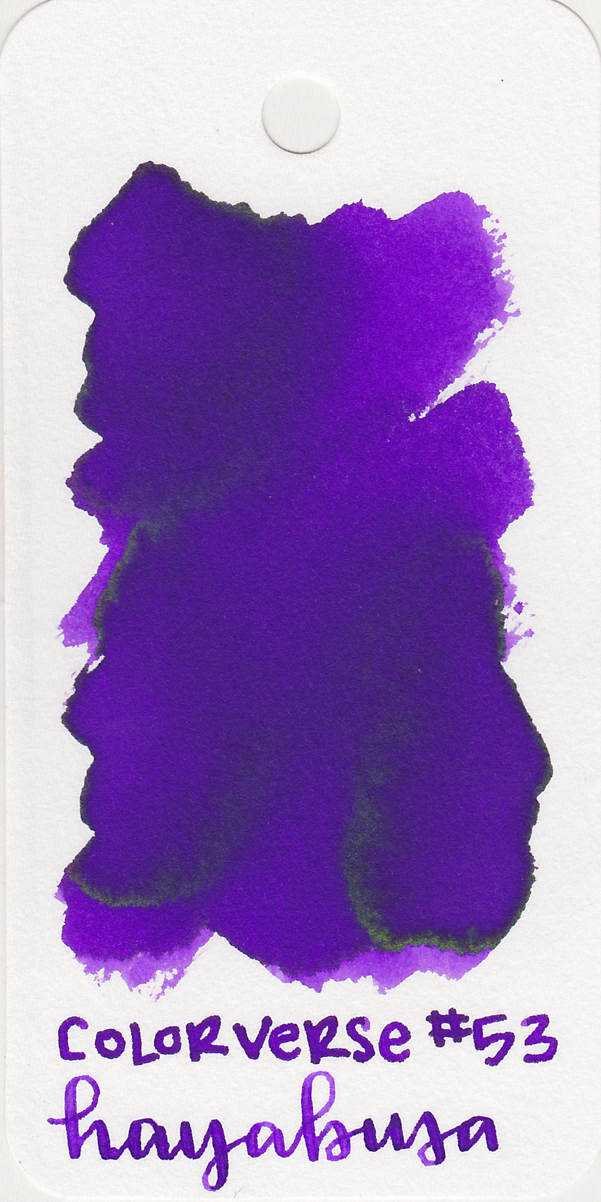 The color: - Hayabusa is a lovely purple, with a little pop of bright green sheen.