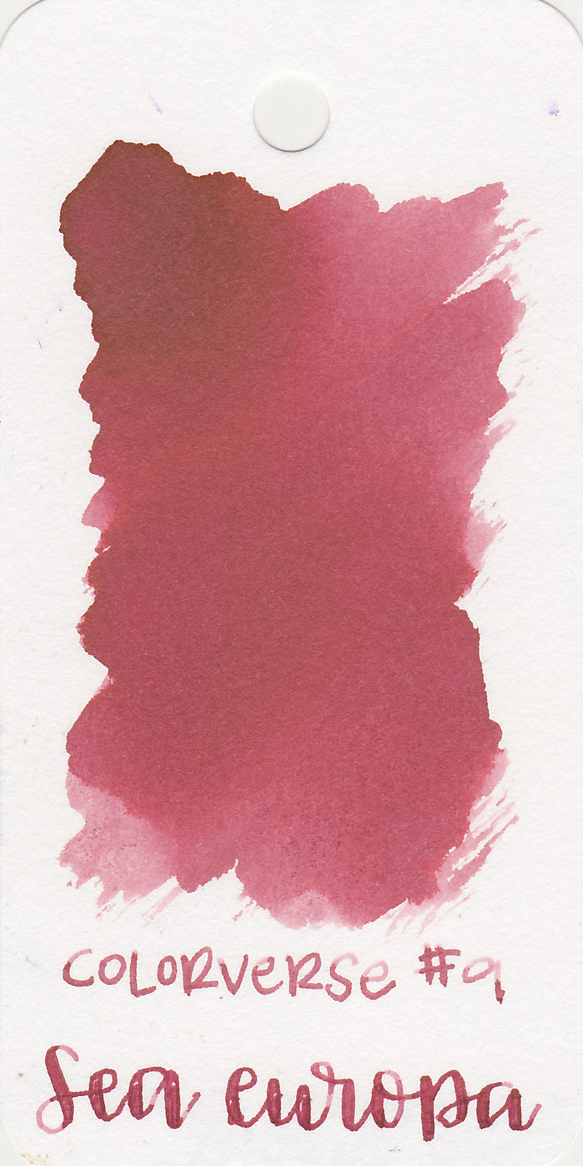 The color: - Sea Europa is a dusky red, pretty unsaturated.