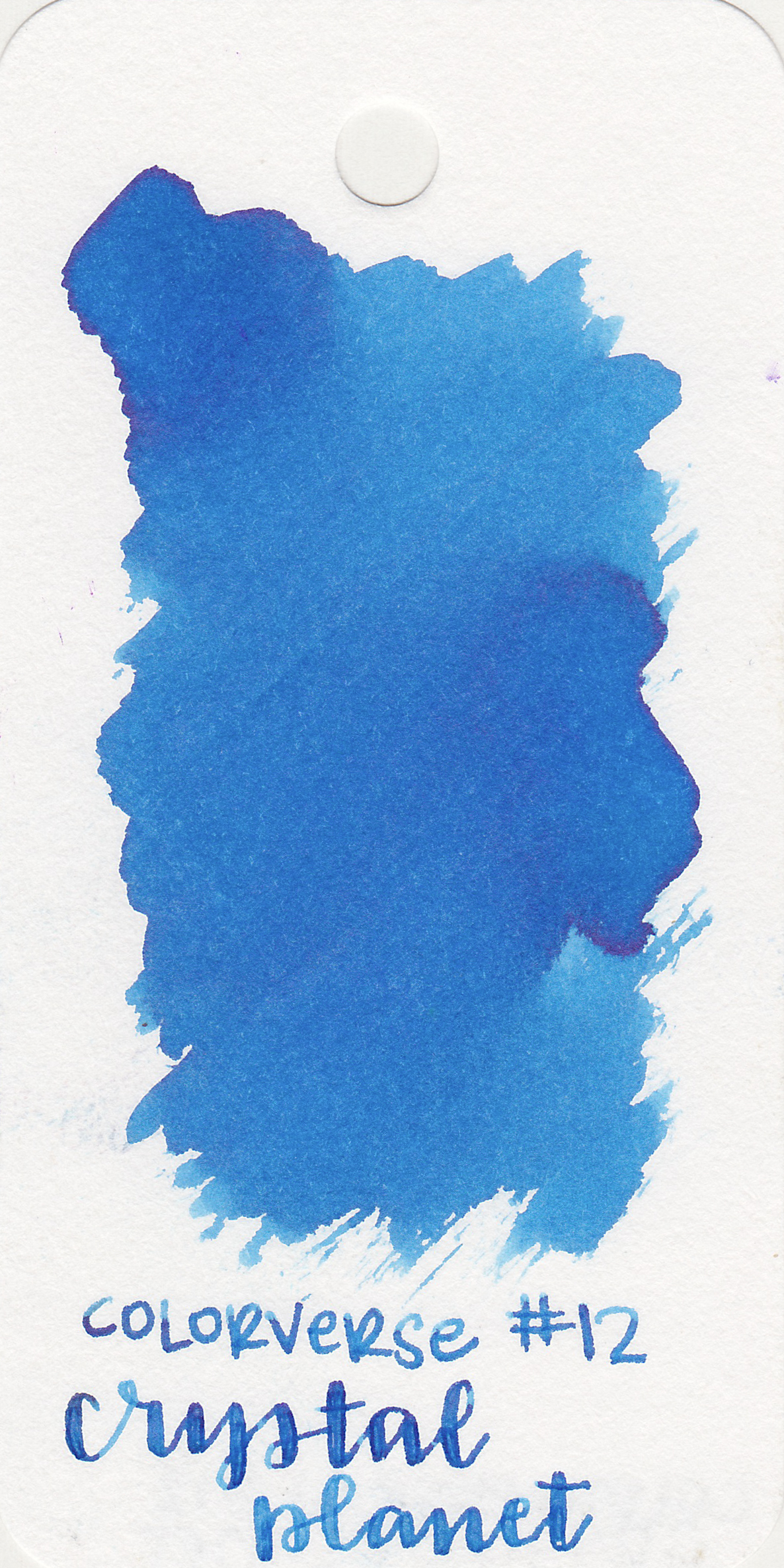 The color: - Crystal Planet is a medium blue.
