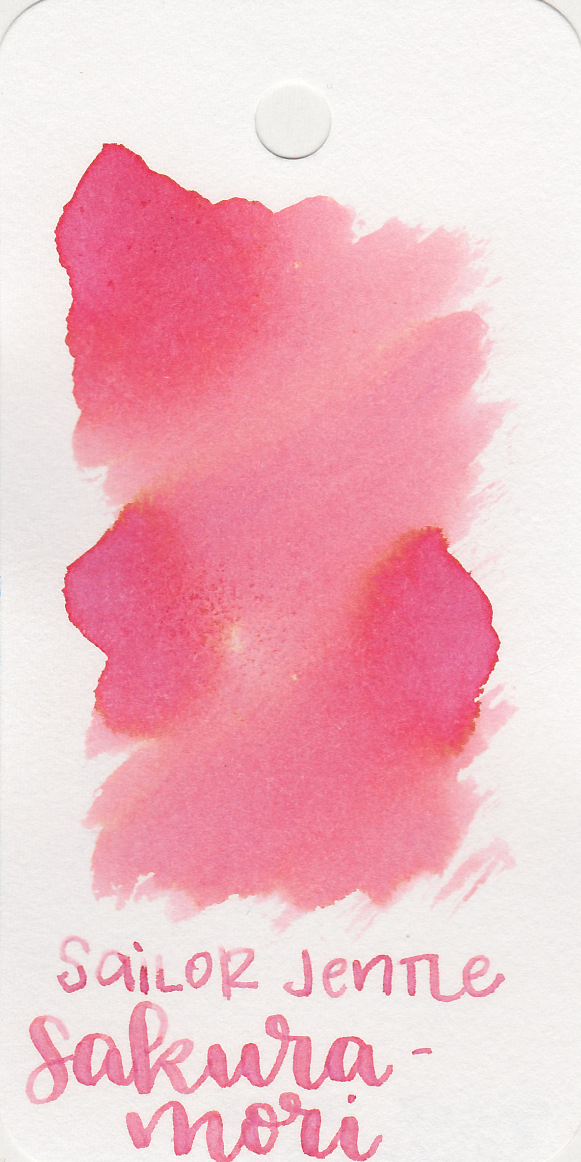 The color: - Sakura-mori is a beautiful spring pink with a heavy yellow undertone.