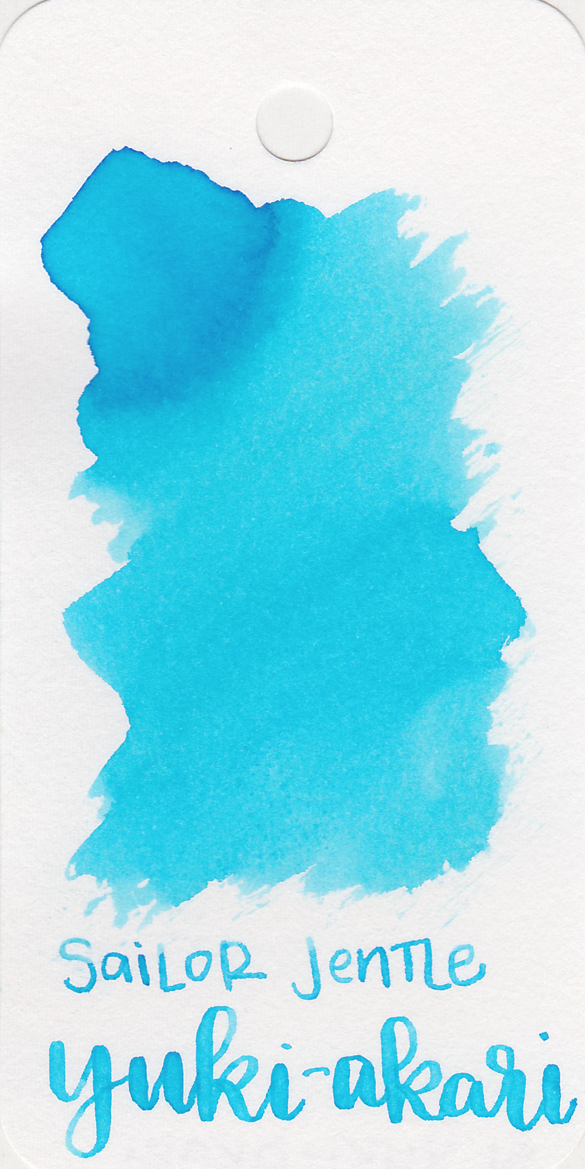 The color: - Yuki-akari is a light, bright blue.