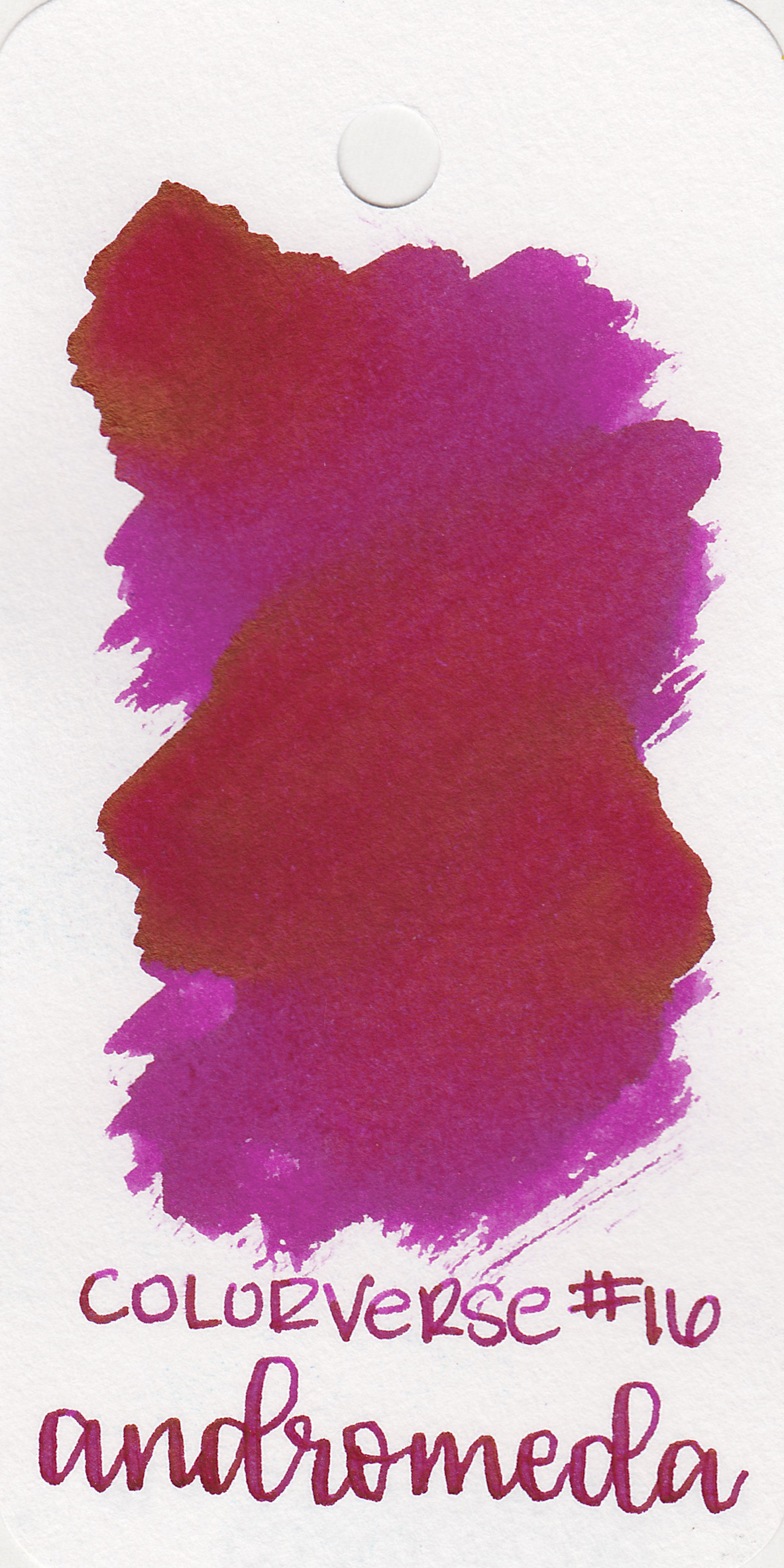 The color: - Andromeda is a bright fuchsia pink.