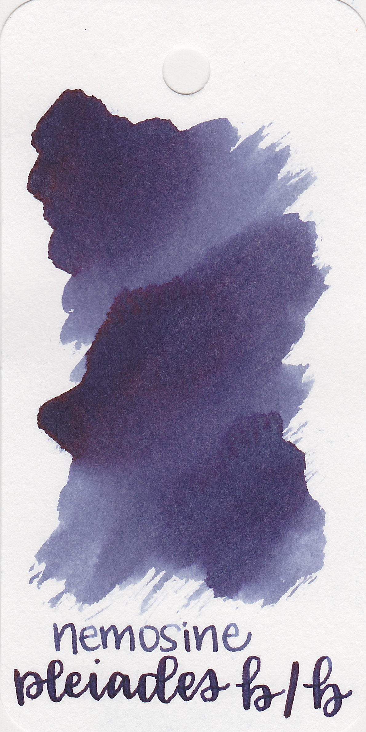 The color: - Pleiades Blue/Black is a lighter blue black with a purple undertone. This ink looks very different in smaller nibs than in wet flex nibs.