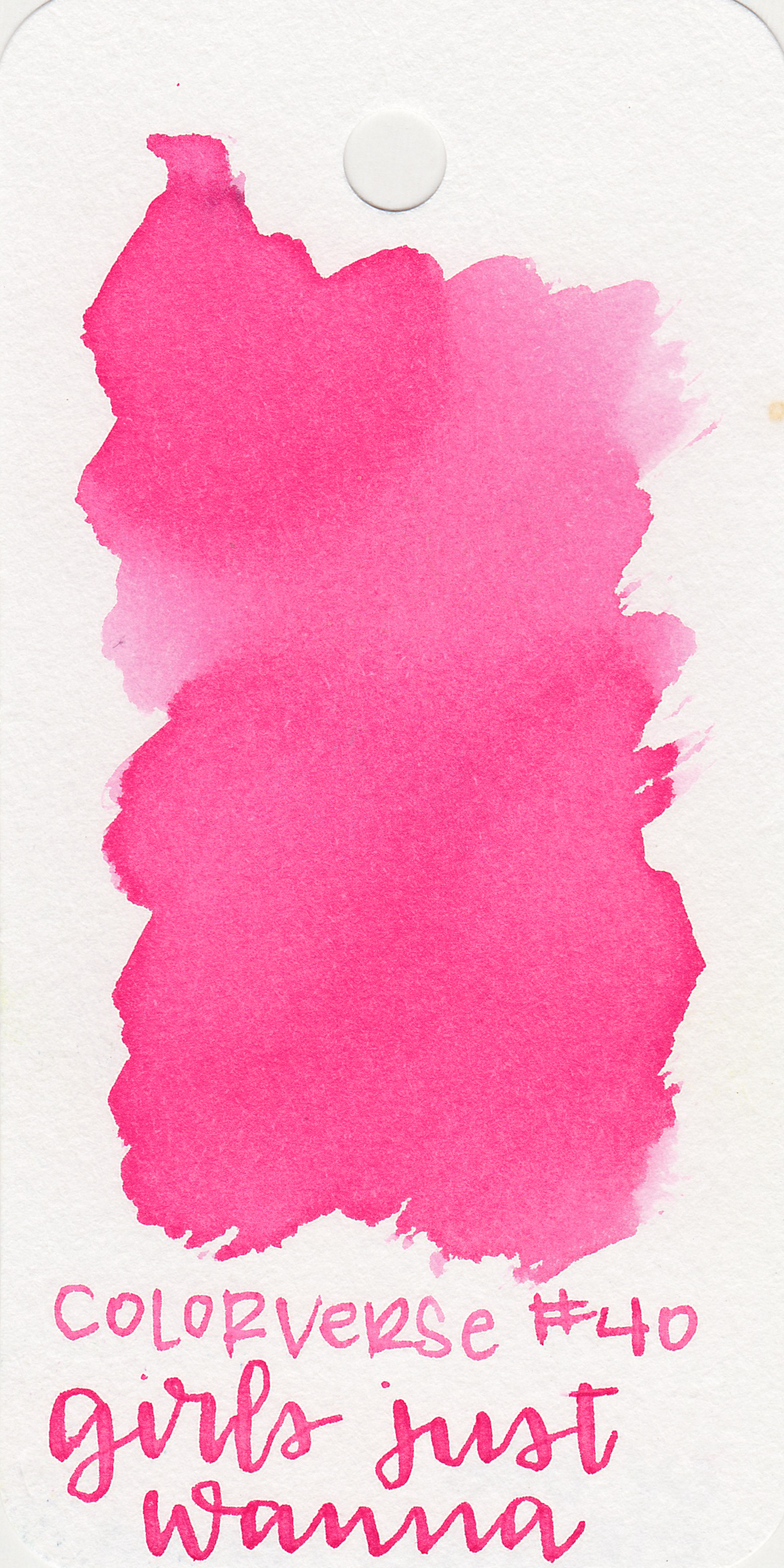 The color: - Girls Just Wanna is a lovely bubblegum pink.