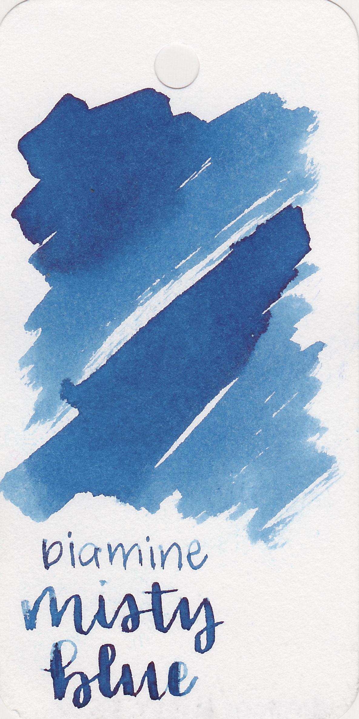 The color: - Misty Blue is a beautiful medium dusky blue.