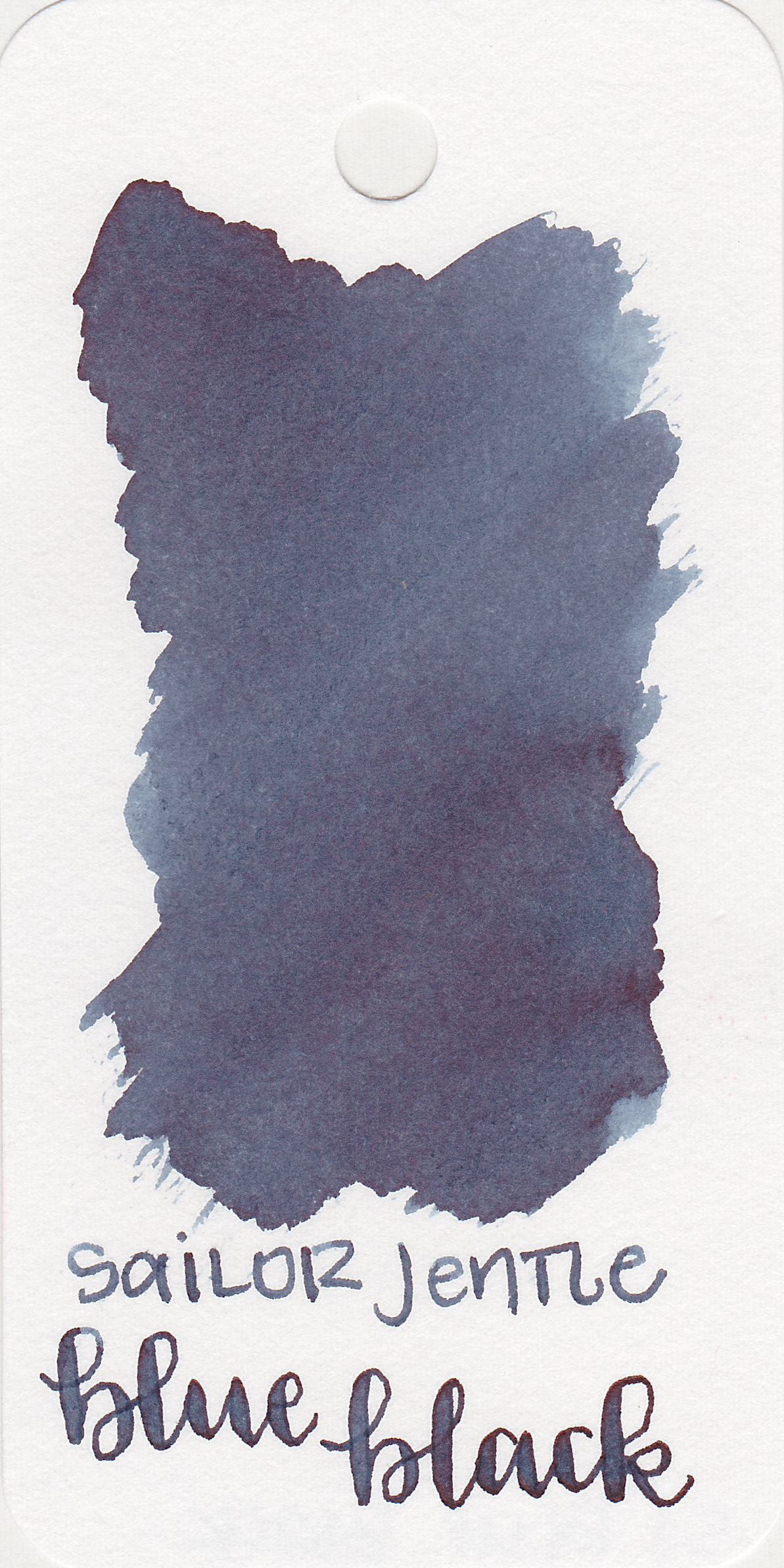 The color: - Blue Black is a lovely blue black, with just a touch of grey in it.