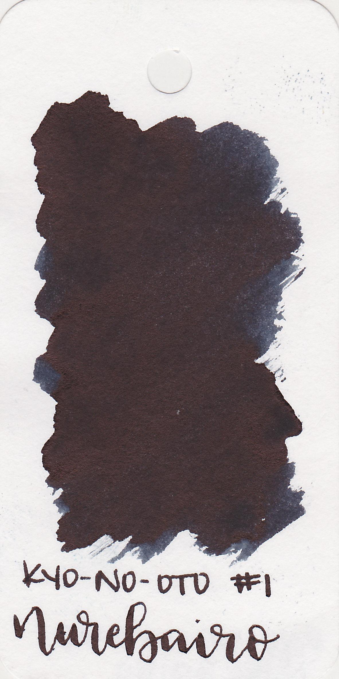 The color: - Nurebairo is a very sheeny black.