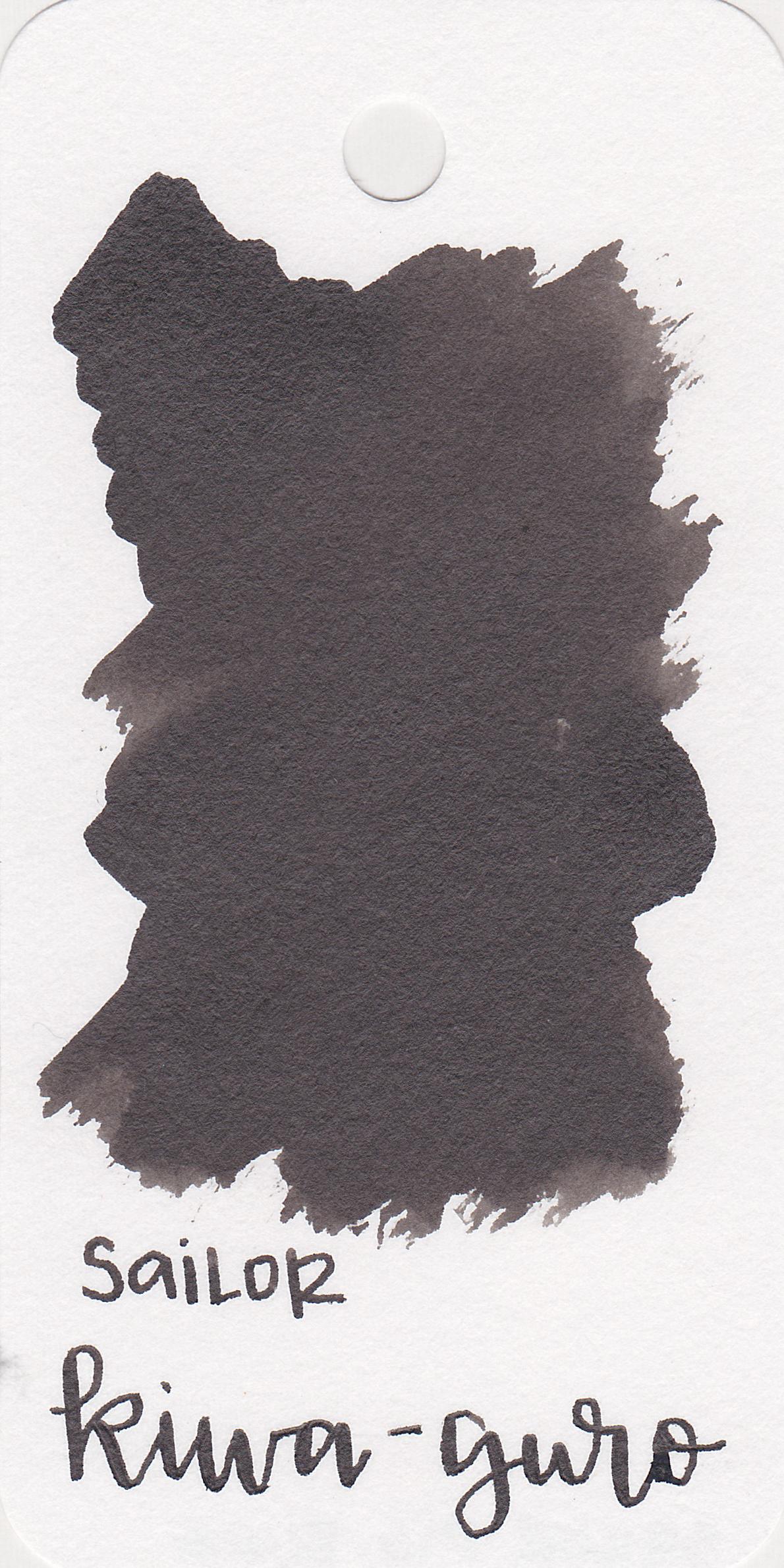 The color: - Kiwa-guro is a very shiny black.
