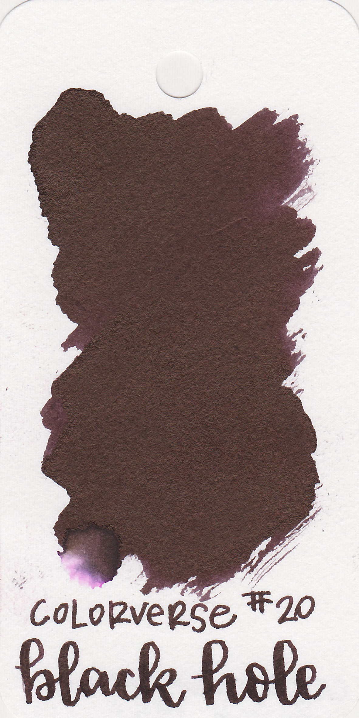 The color: - Black Hole is a black with a purple undertone.