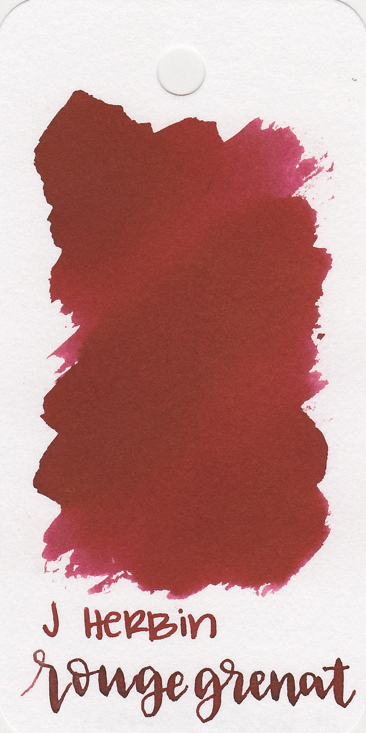The color: - Rouge Grenat is a dark red, almost a burgundy.