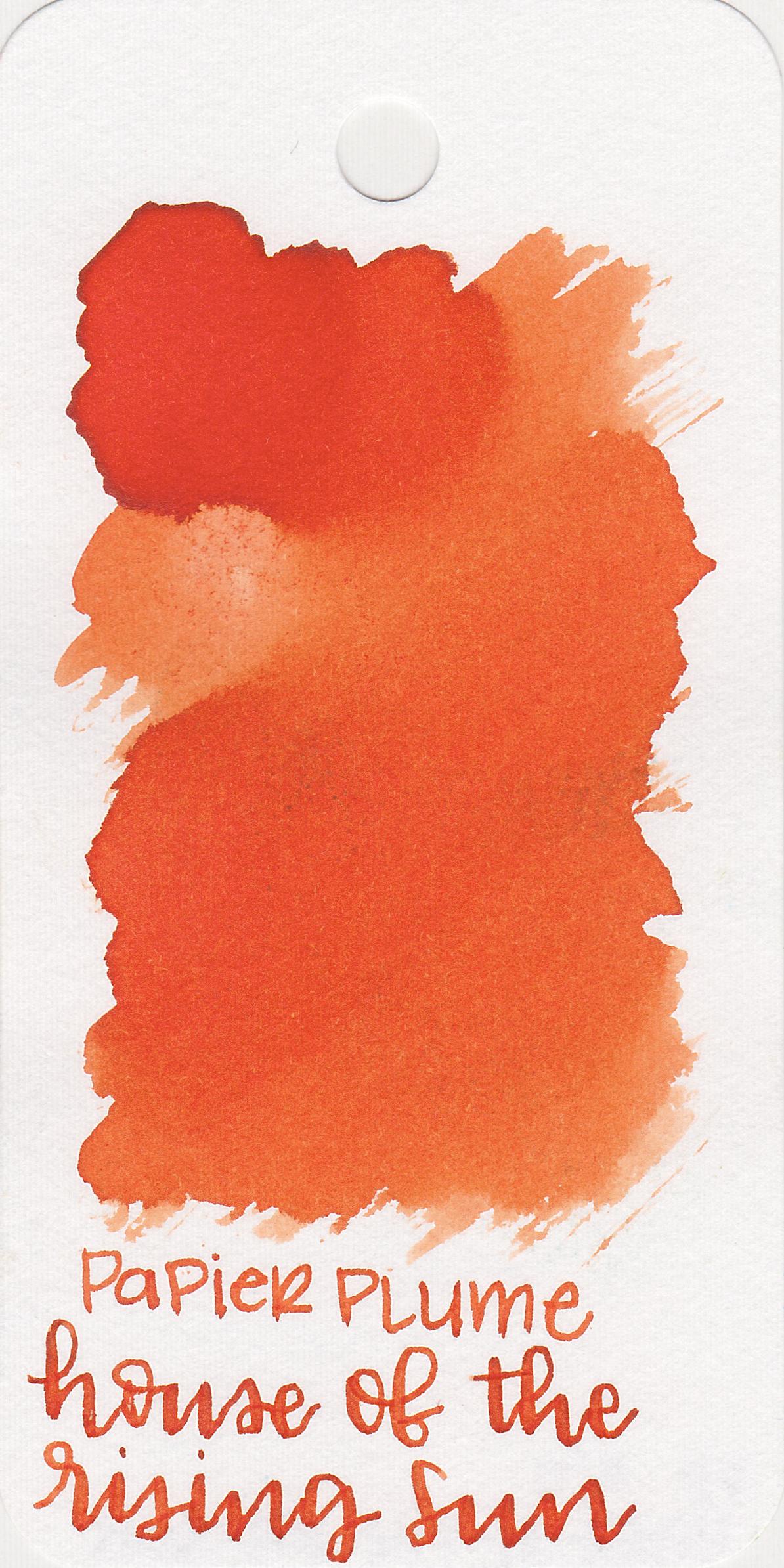 The color: - Rising Sun is a medium orange, ranging from orange to red-orange.