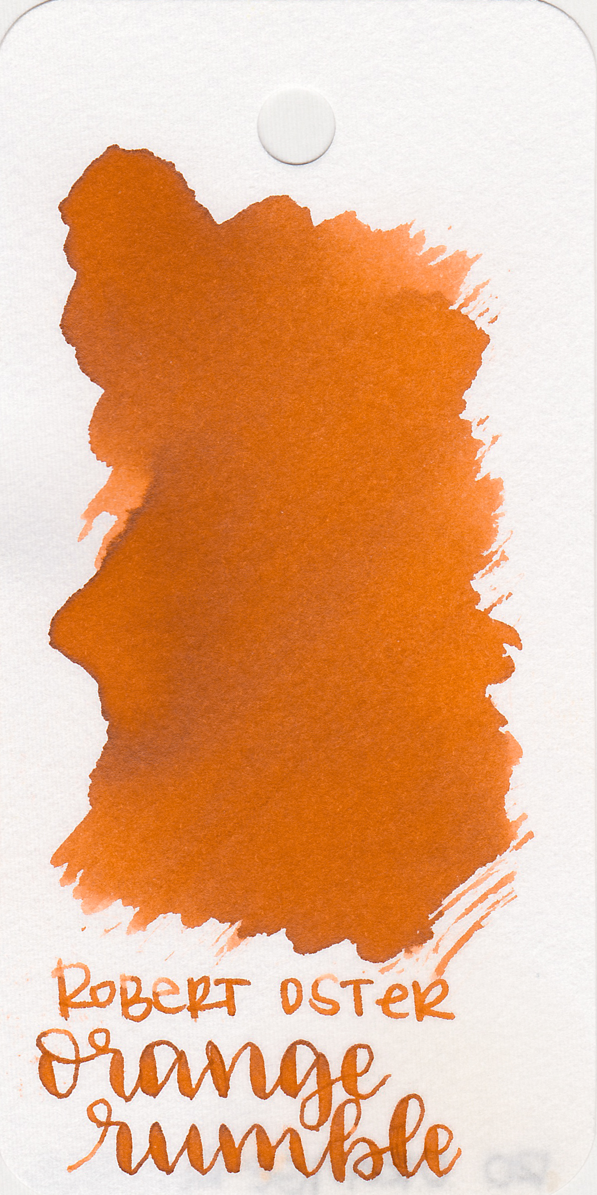 The color: - Orange Rumble is a dark 70's orange.
