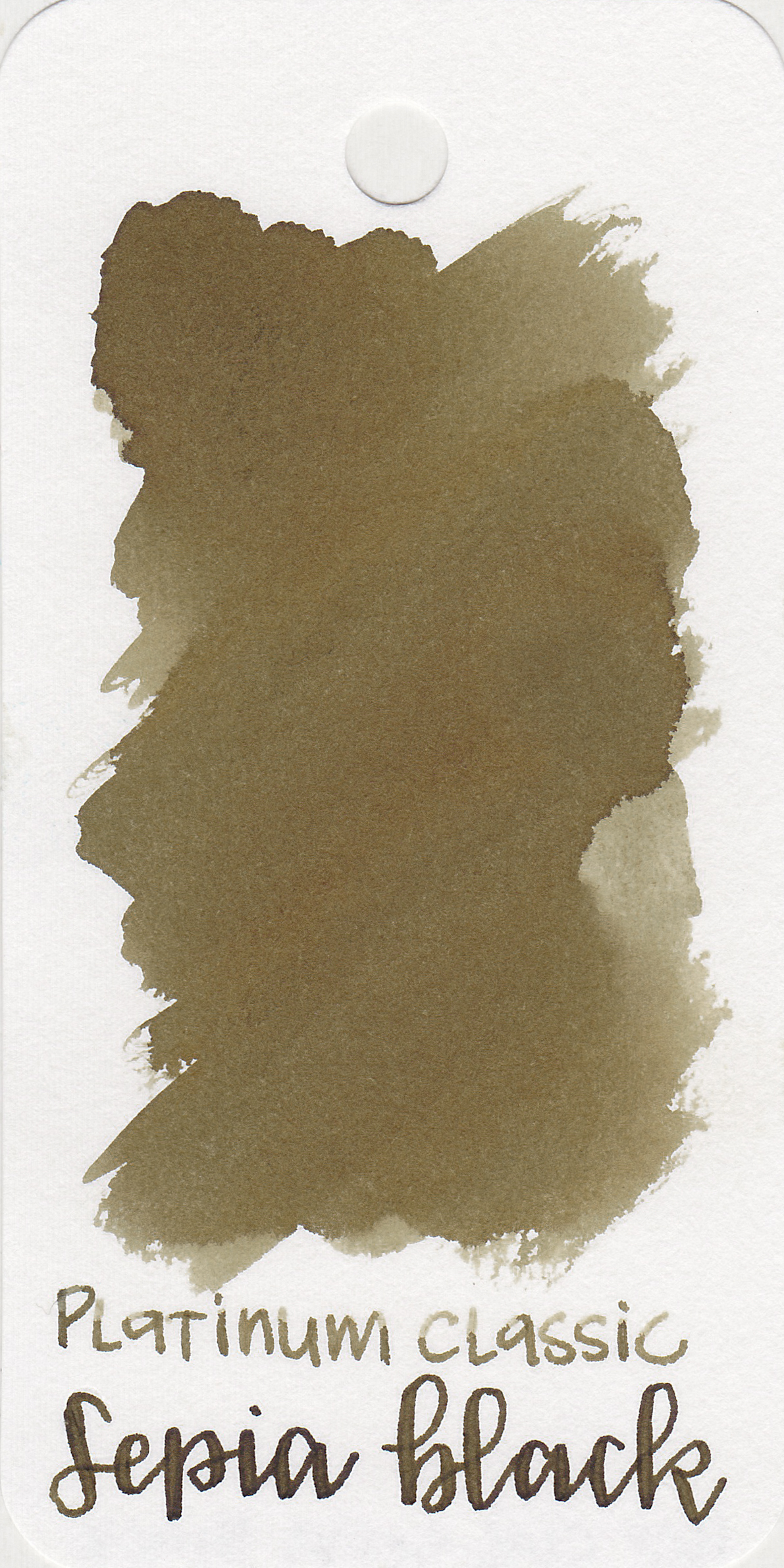 The color: - Sepia Black is an interesting cool-toned brown. It does remind me of old sepia black and white photos.