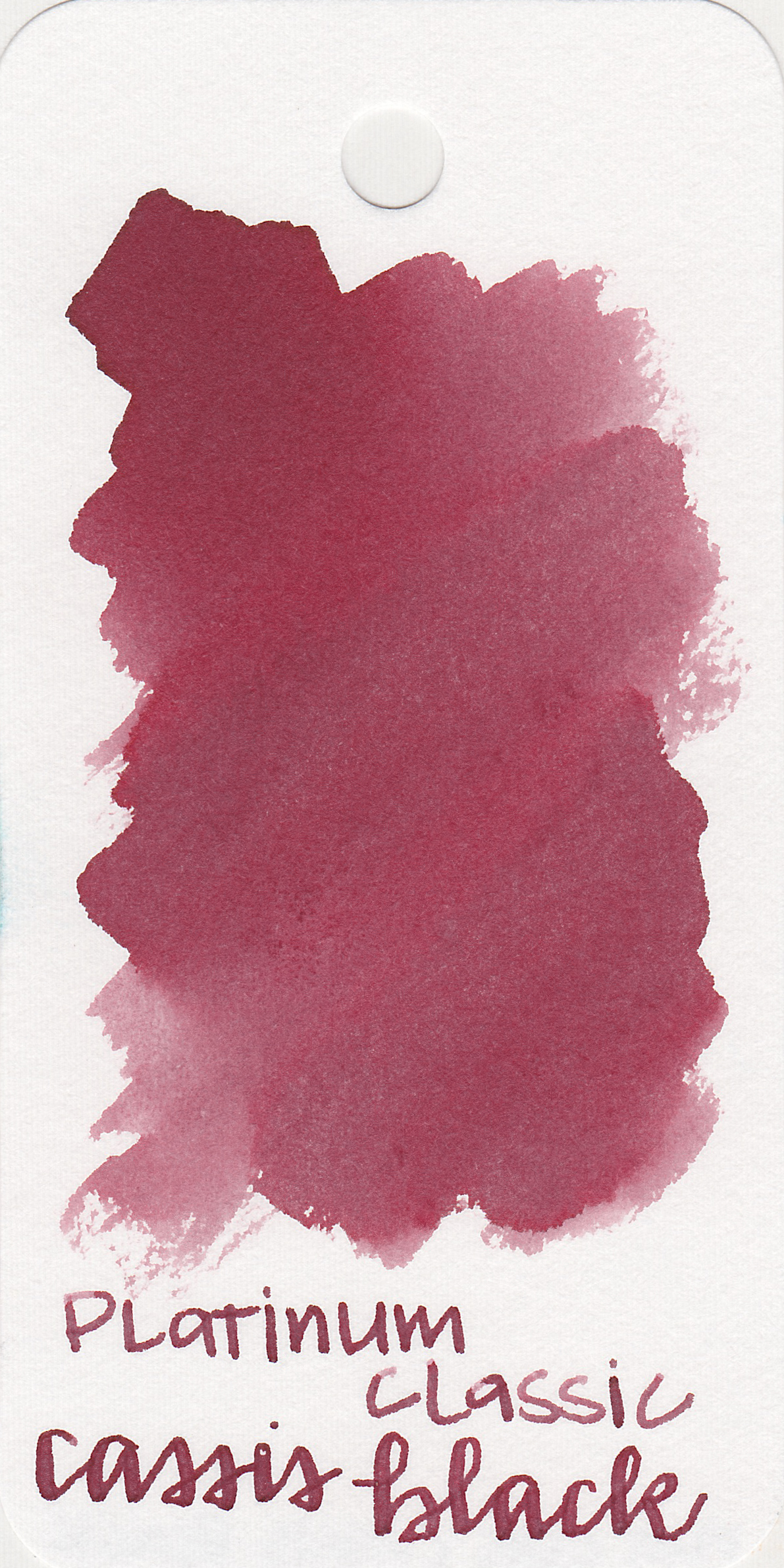 The color: - Cassis Black is a dark, unsaturated red.