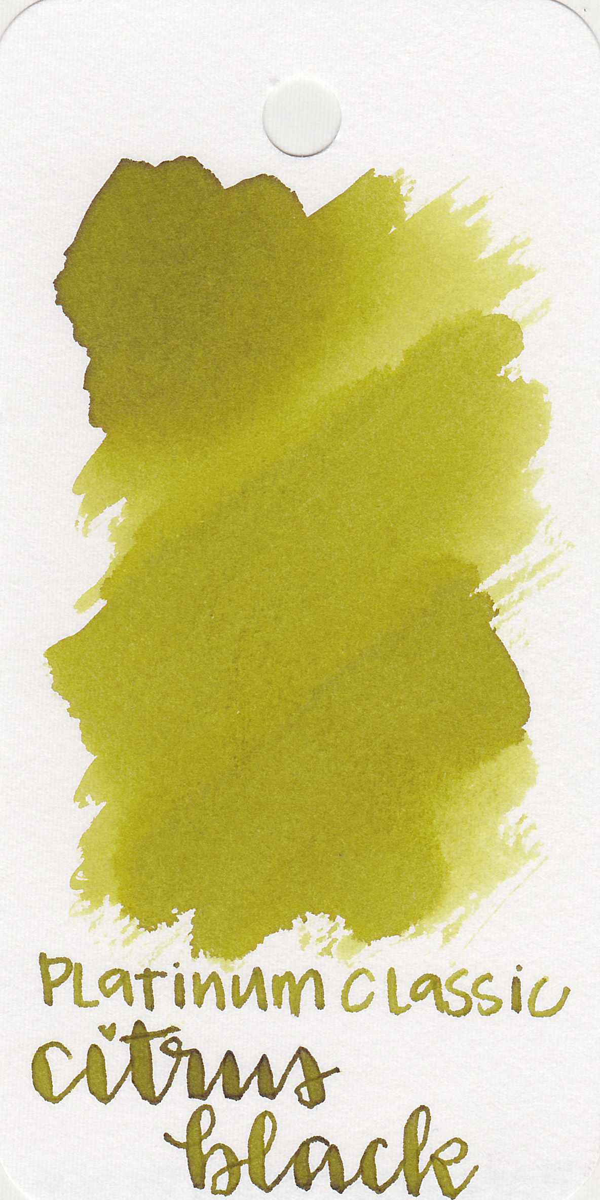The color: - Citrus Black is a dark yellow with a heavy green undertone.