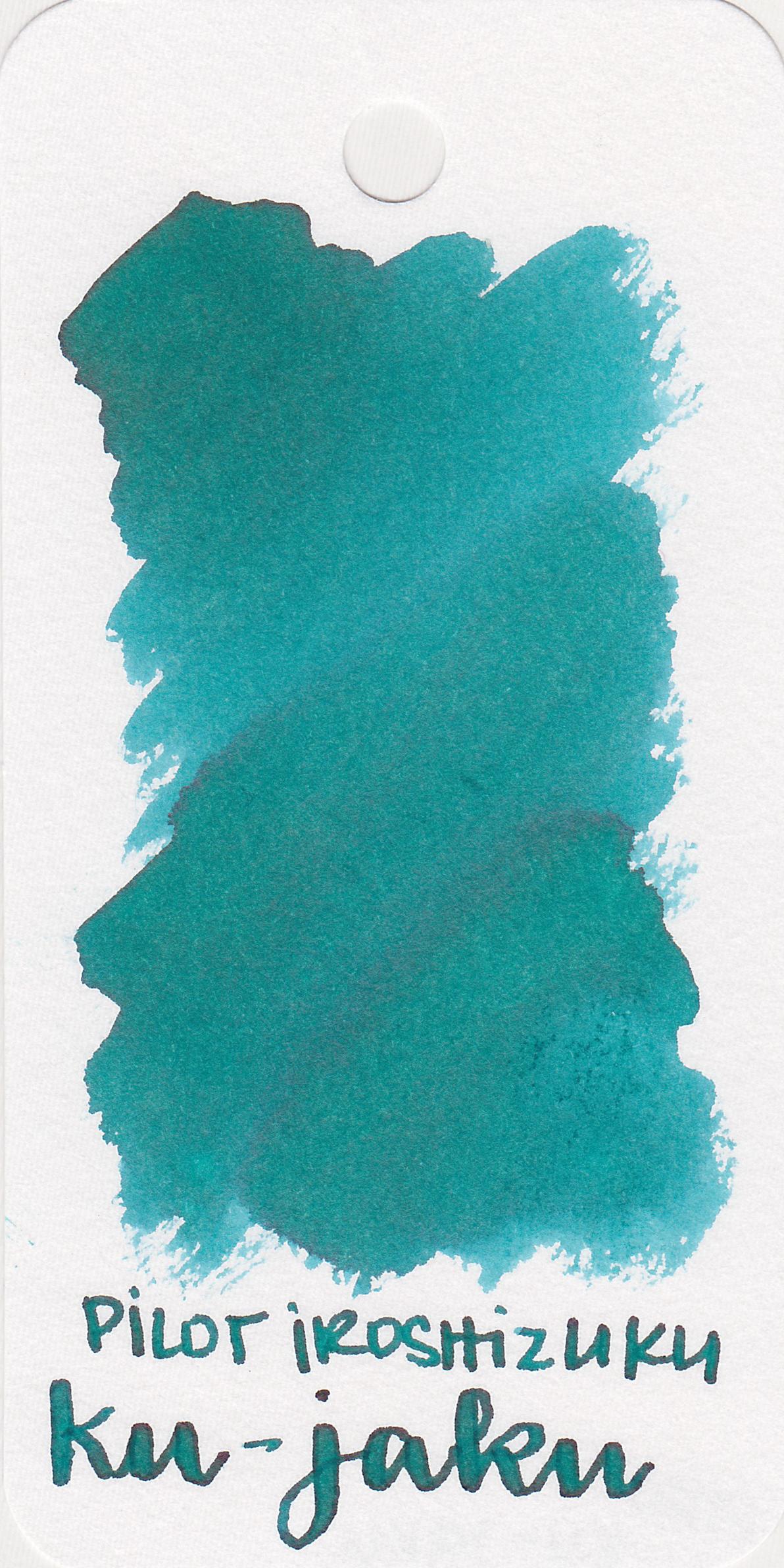 The color: - Ku-jaku is a gorgeous medium teal, but let's face it, I'm biased. I love teal.