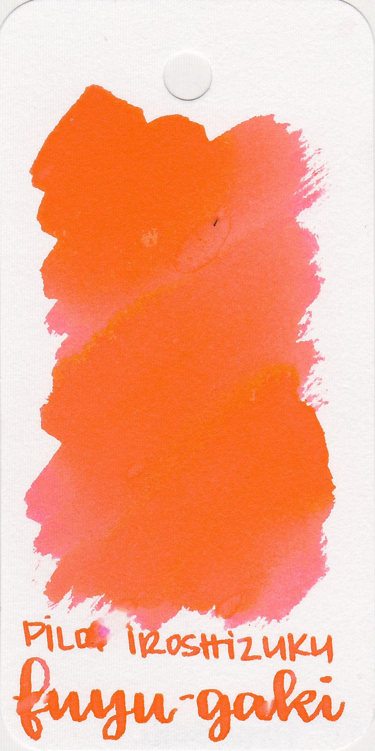 The color: - Fuyu-gaki is a bright red-orange.