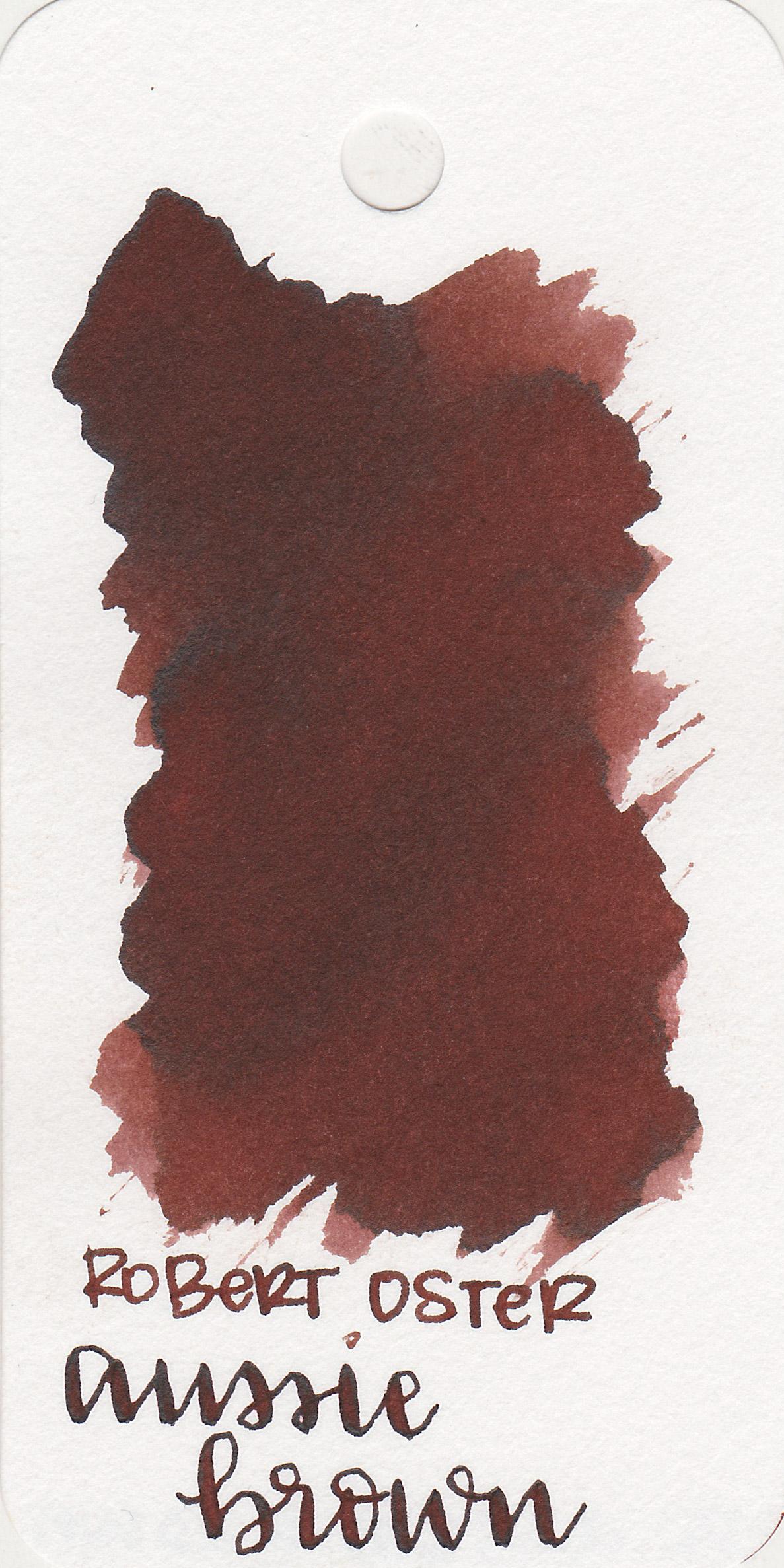 The color: - Aussie Brown is a medium warm brown.