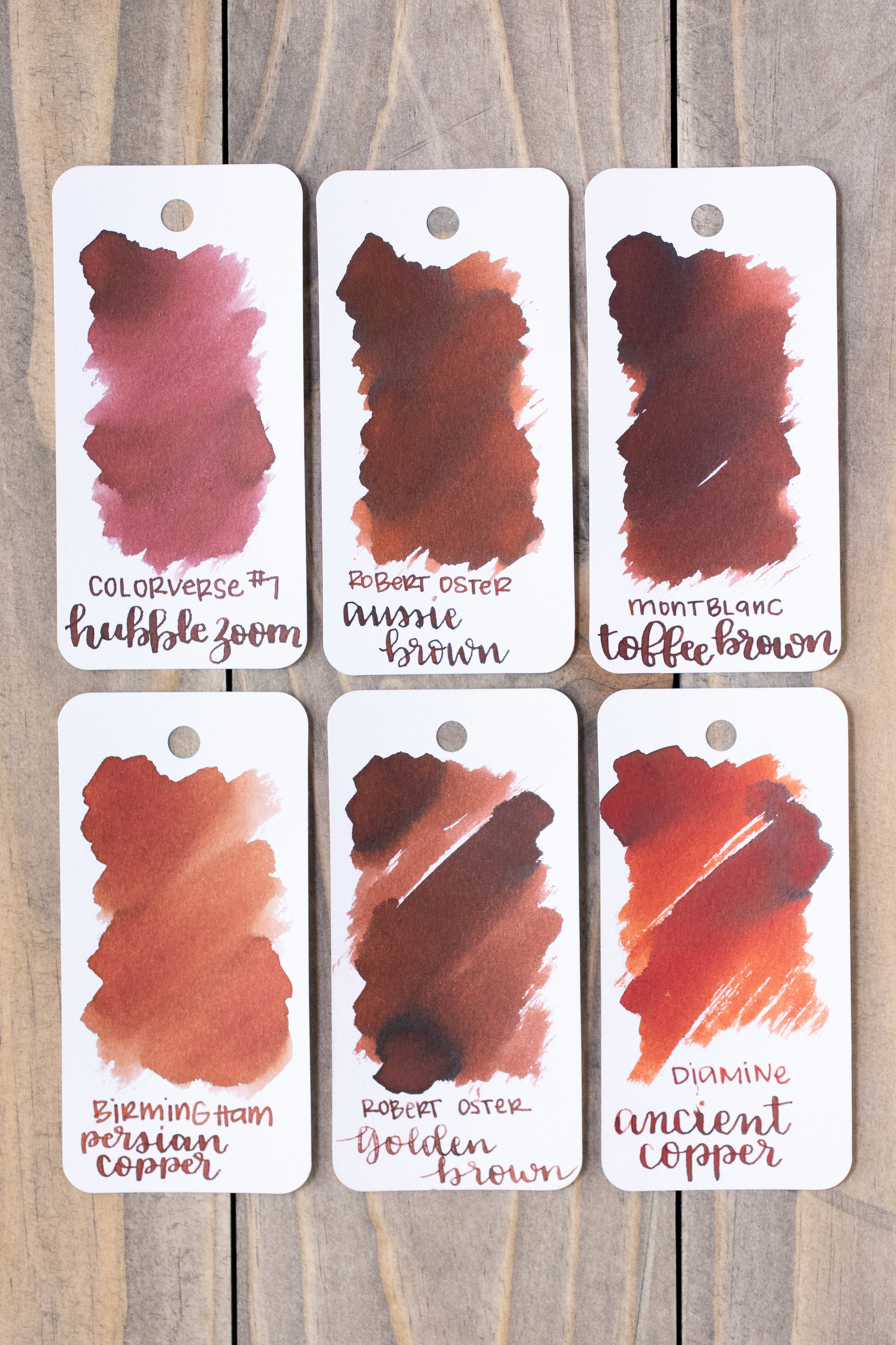 Similar inks: - Montblanc Toffee Brown has a little bit more red in it than Aussie Brown does. Click here to see the Robert Oster inks together.