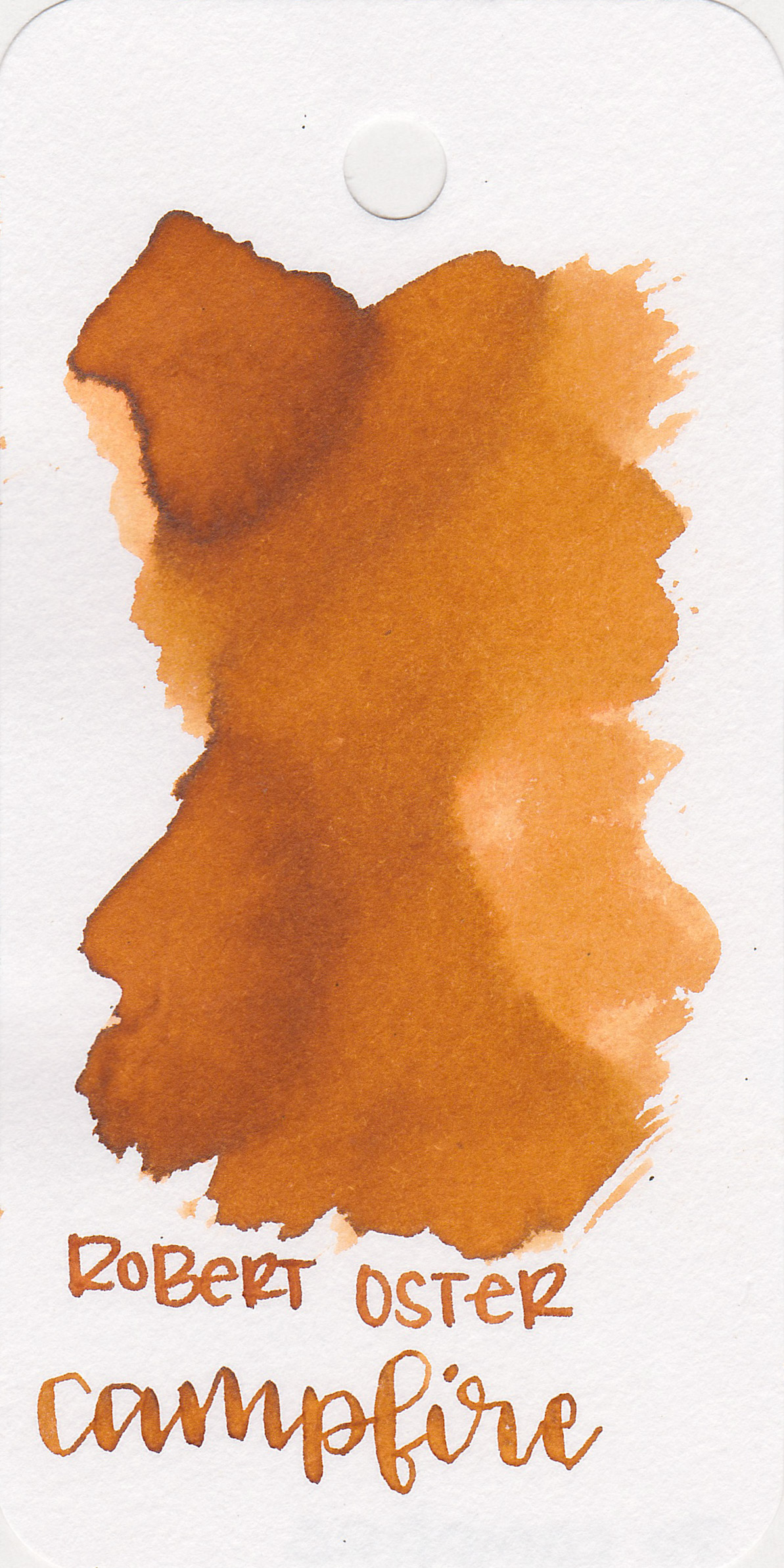 The color: - Campfire is a medium orange-brown. I compared it to oranges and browns, and decided it's a bit more brown than orange.