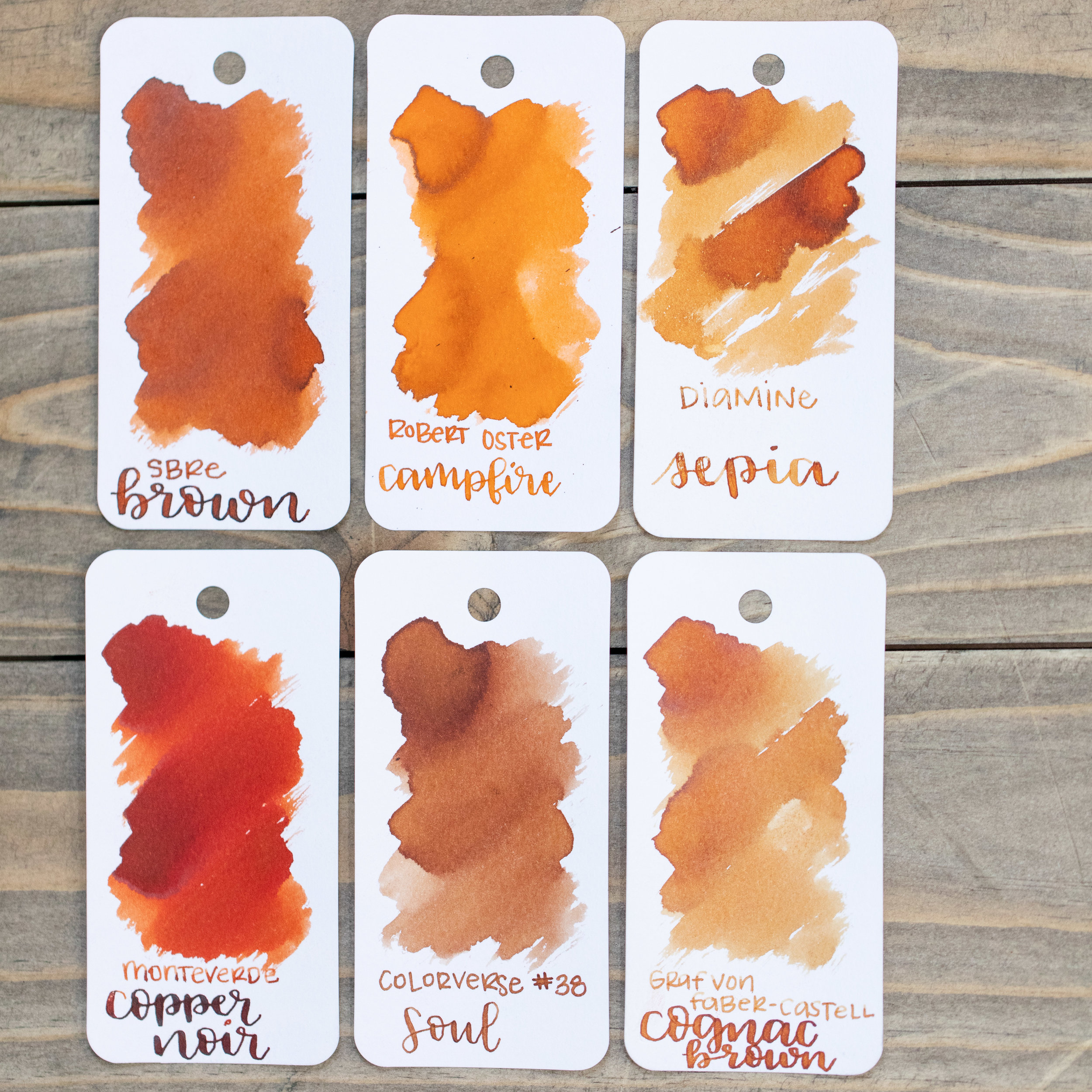 Similar inks: - Campfire is lighter and brighter than SBRE Brown. Click here to see the Robert Oster inks together.