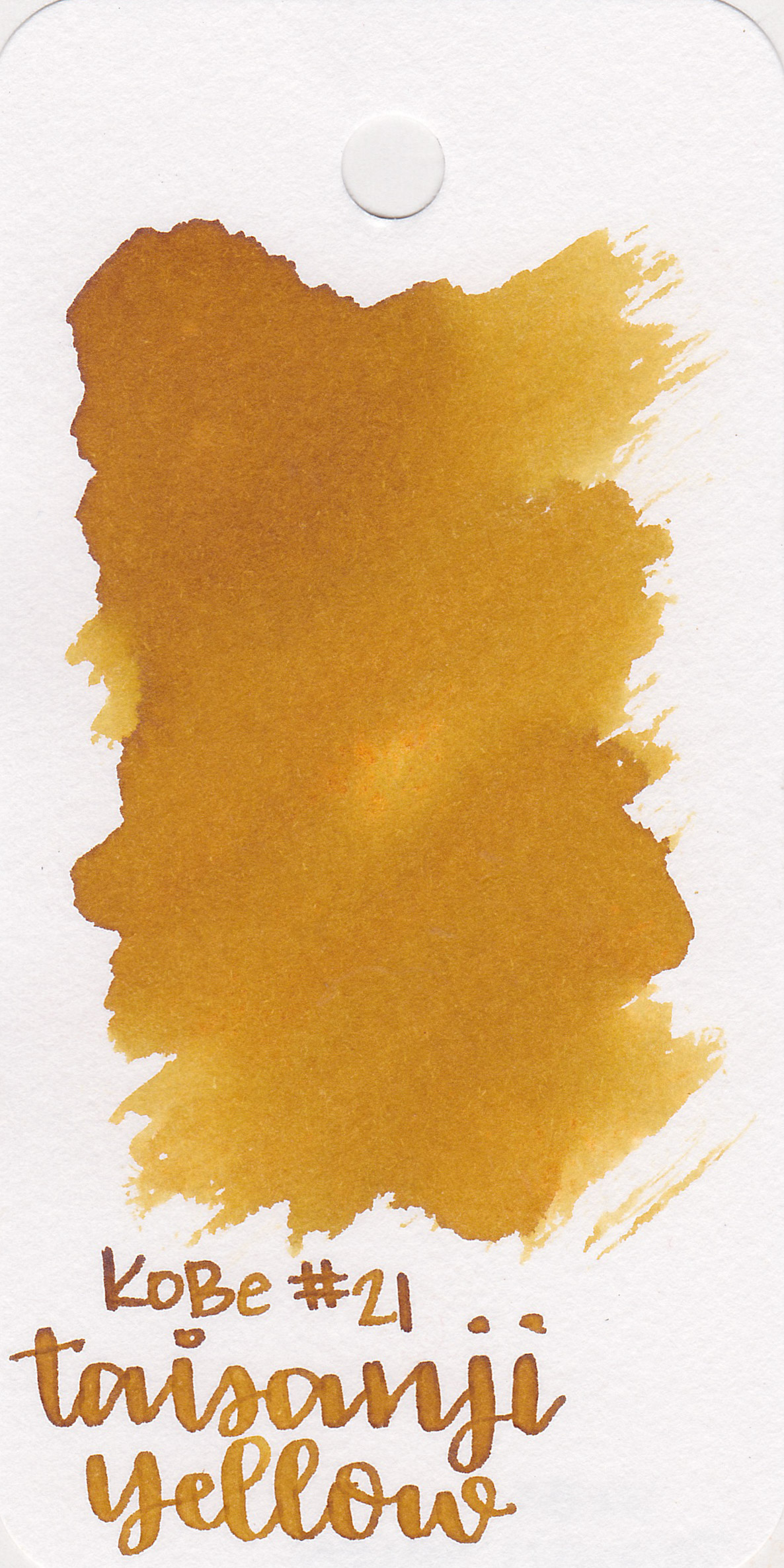 The color: - Taisanji Yellow is a dark, mustard yellow.