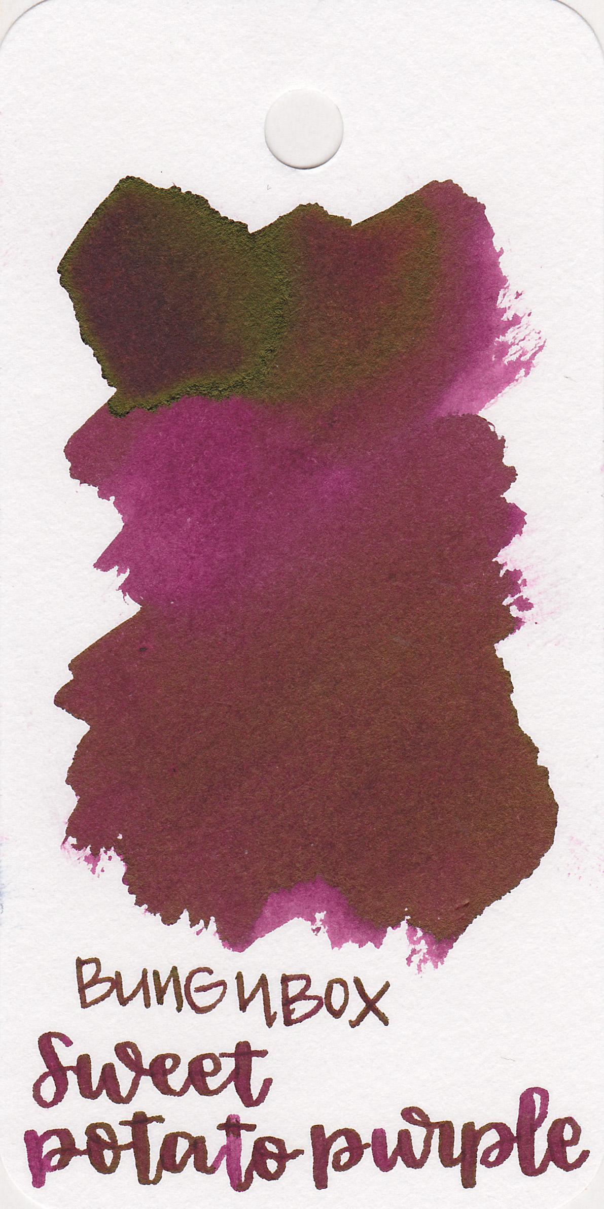 The color: - Sweet Potato Purple is a dark fuchsia purple.