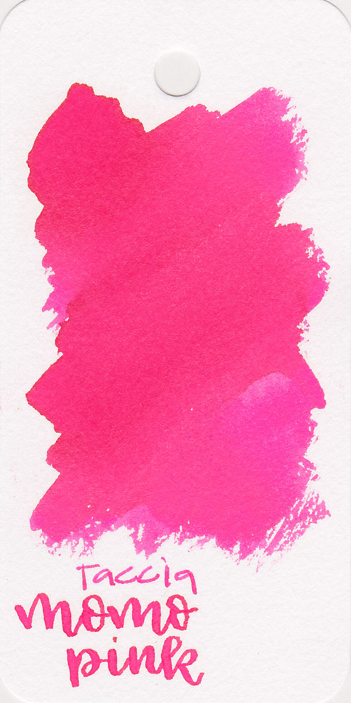 The color: - Momo Pink is a very bright bubblegum pink.