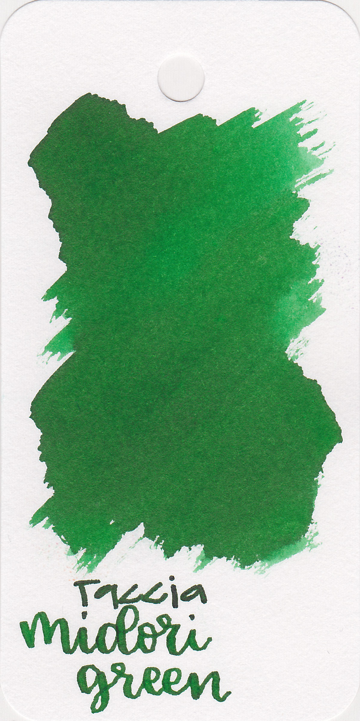 The color: - Midori Green is a lovely bright, medium green.