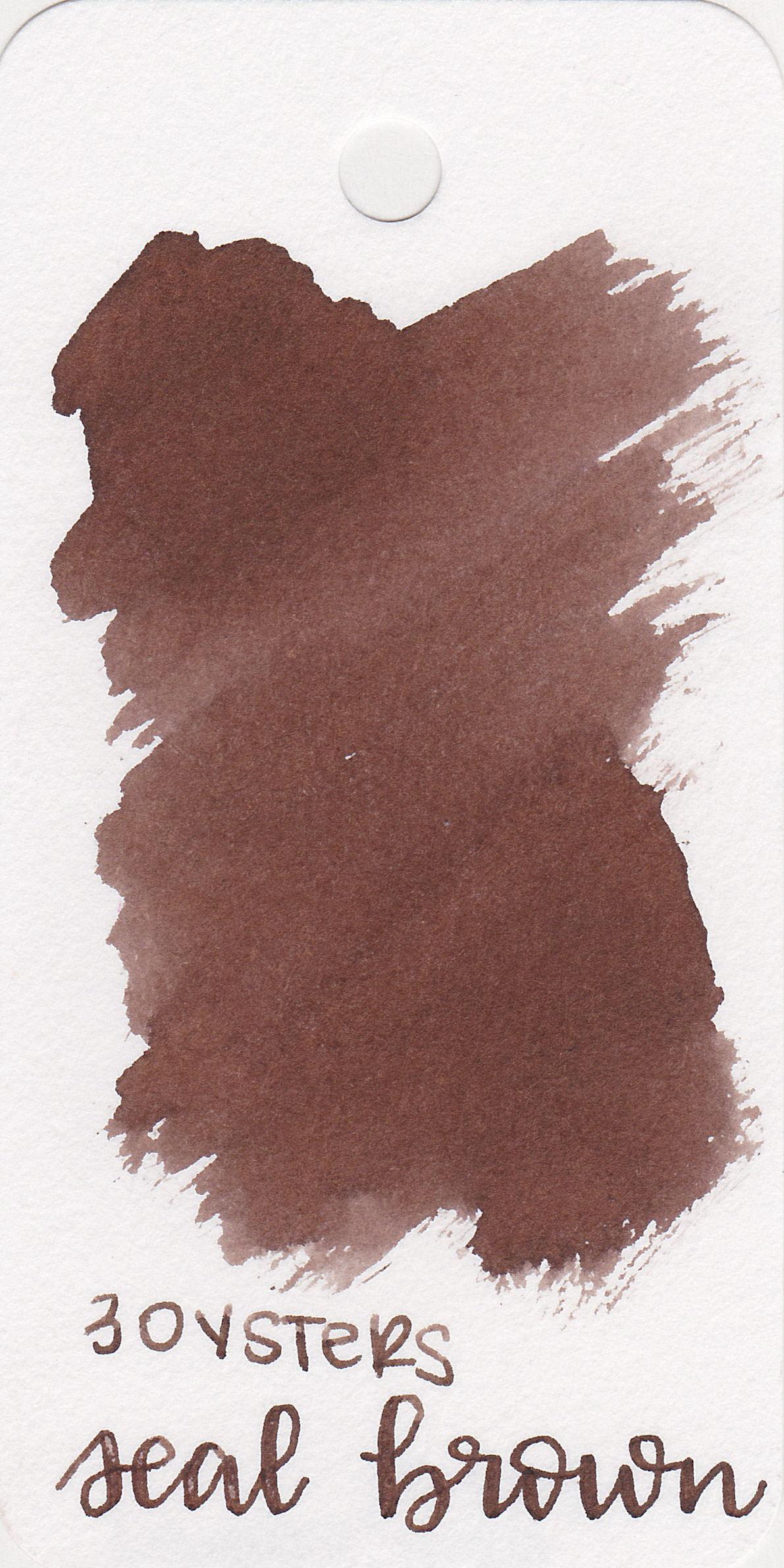 The color: - Seal Brown is a dark brown with some shading.