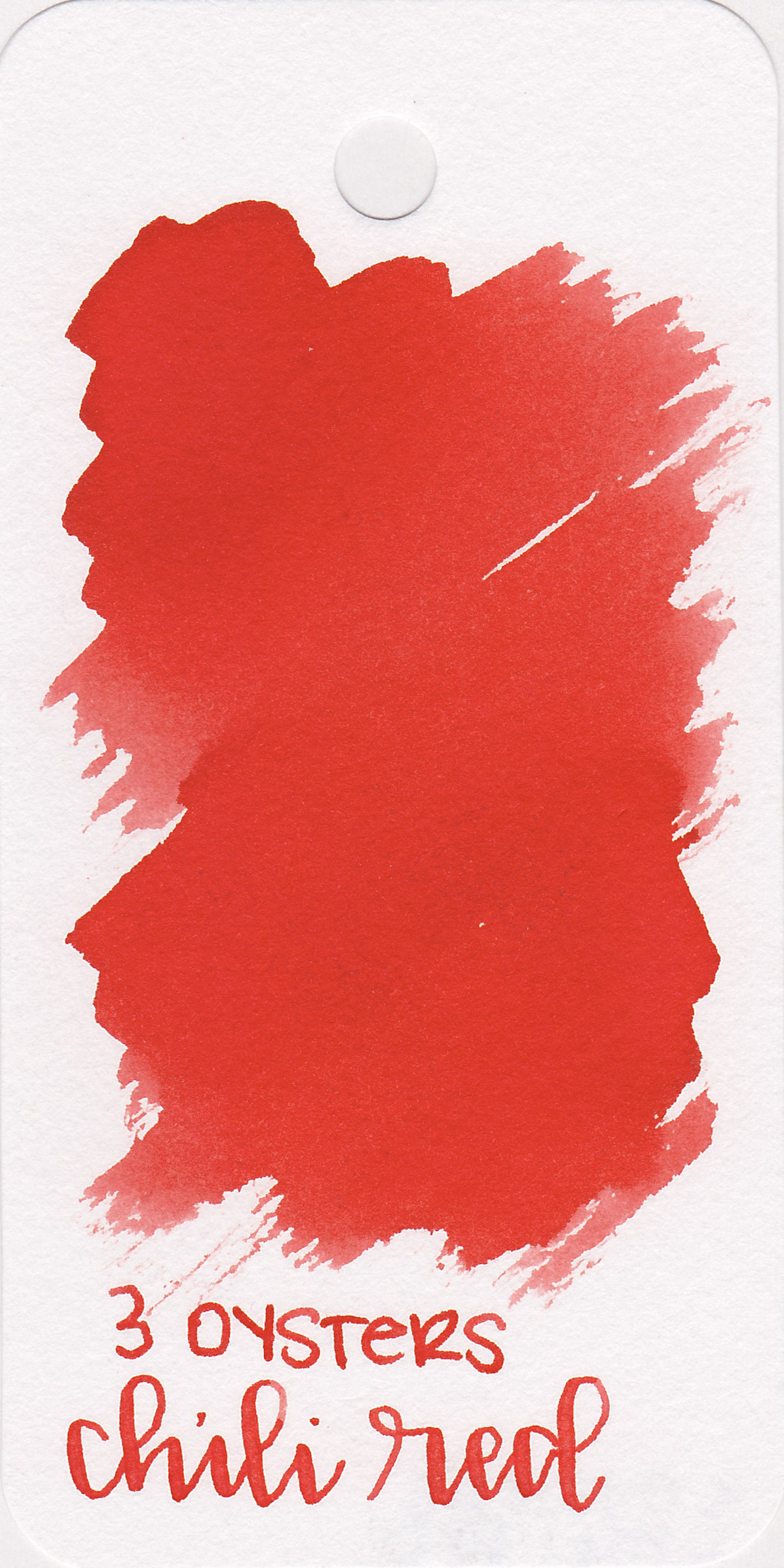 The color: - Chili Red is a bright, vibrant red.