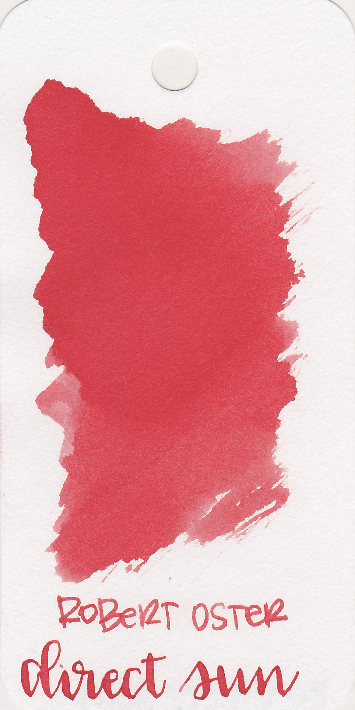 The color: - Direct Sun is a lighter, less saturated red.
