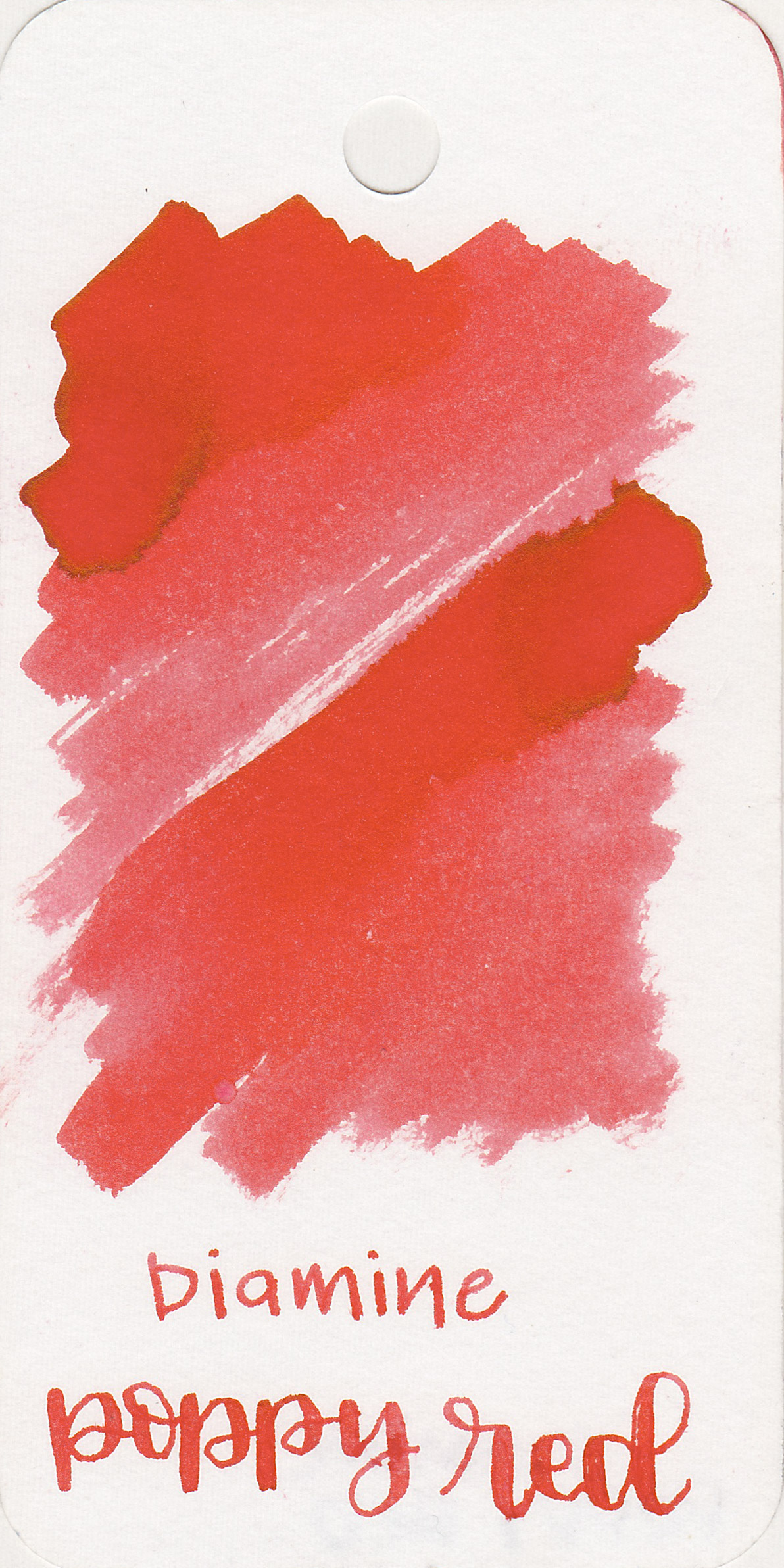 The color: - Poppy Red is a medium red bright red.