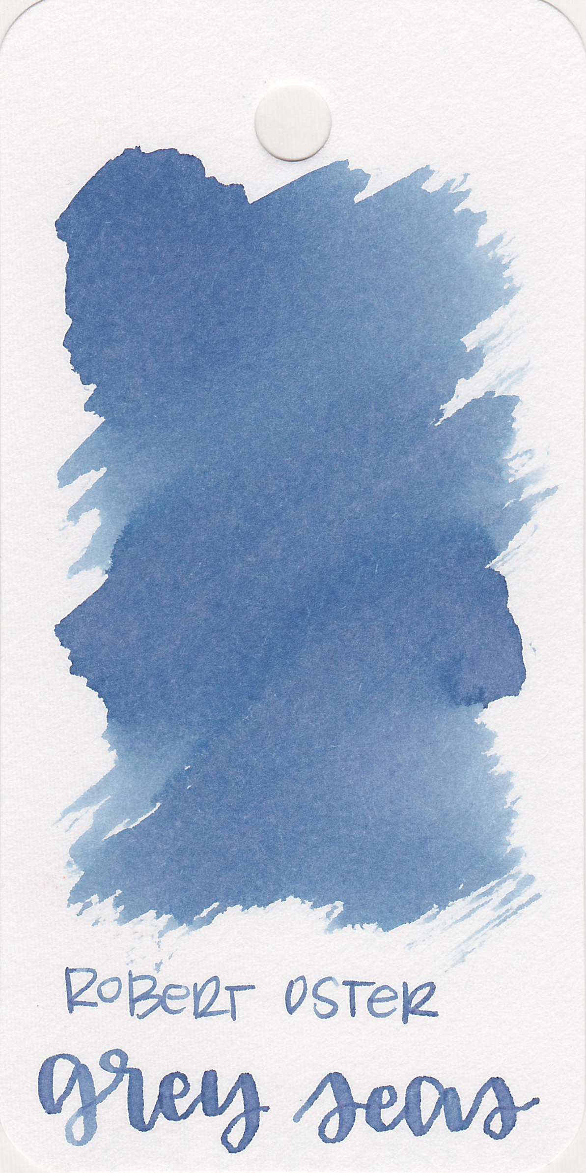 The color: - Grey Seas is a beautiful pale blue.
